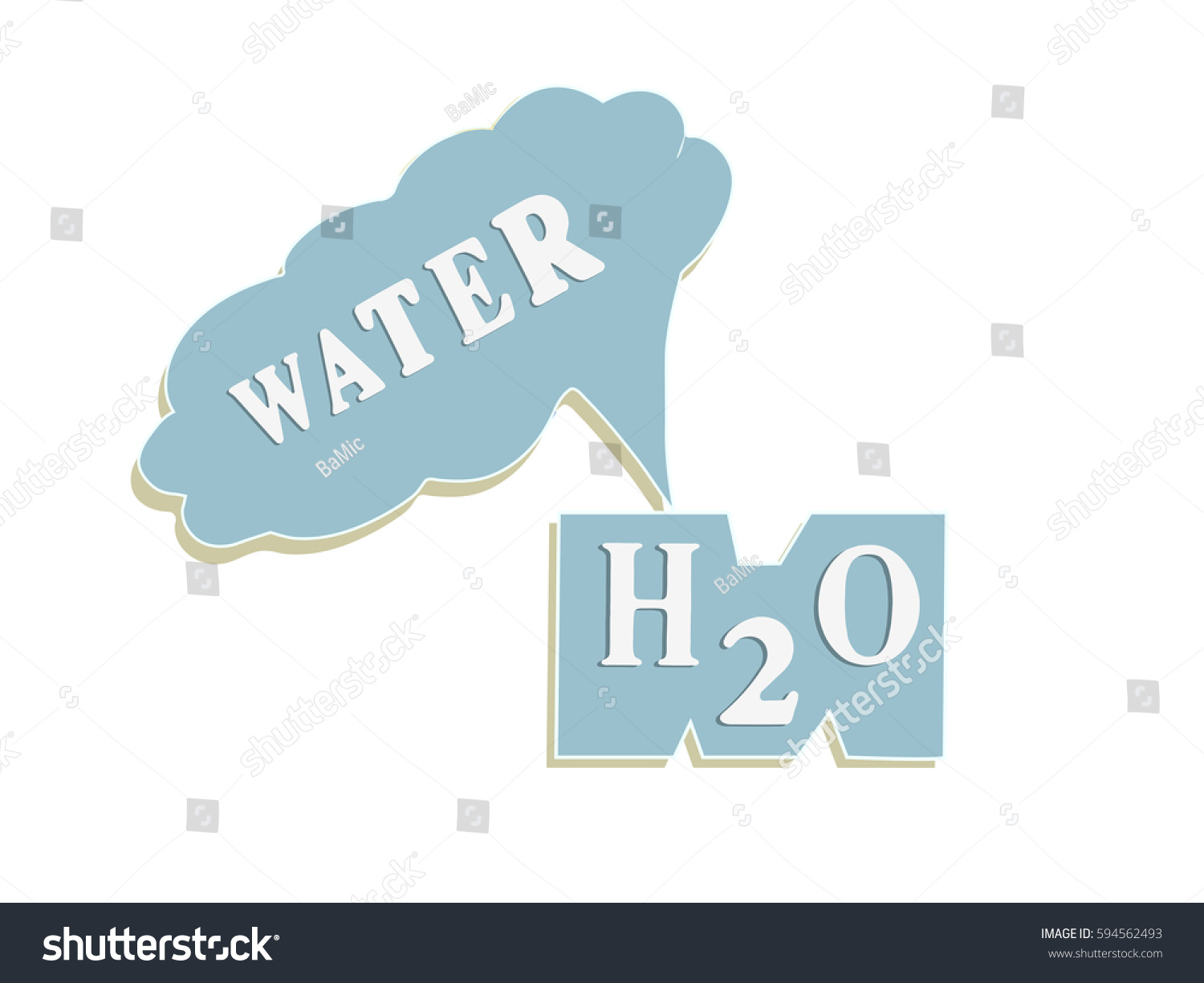 Water chemical formula h2o digital drawing stock illustration water chemical formula h2o digital drawing buycottarizona Choice Image