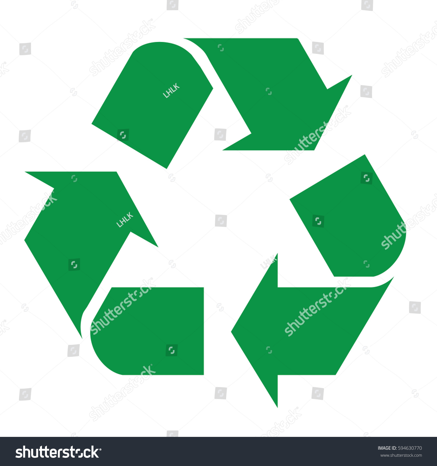recycle logo vector issolated background stock vector