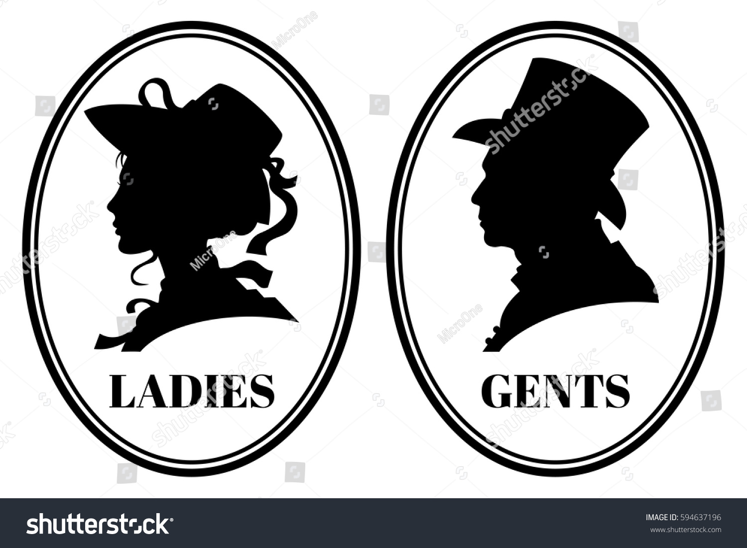 vintage toilet wc vector sign lady stock vector 594637196 shutterstock. Black Bedroom Furniture Sets. Home Design Ideas