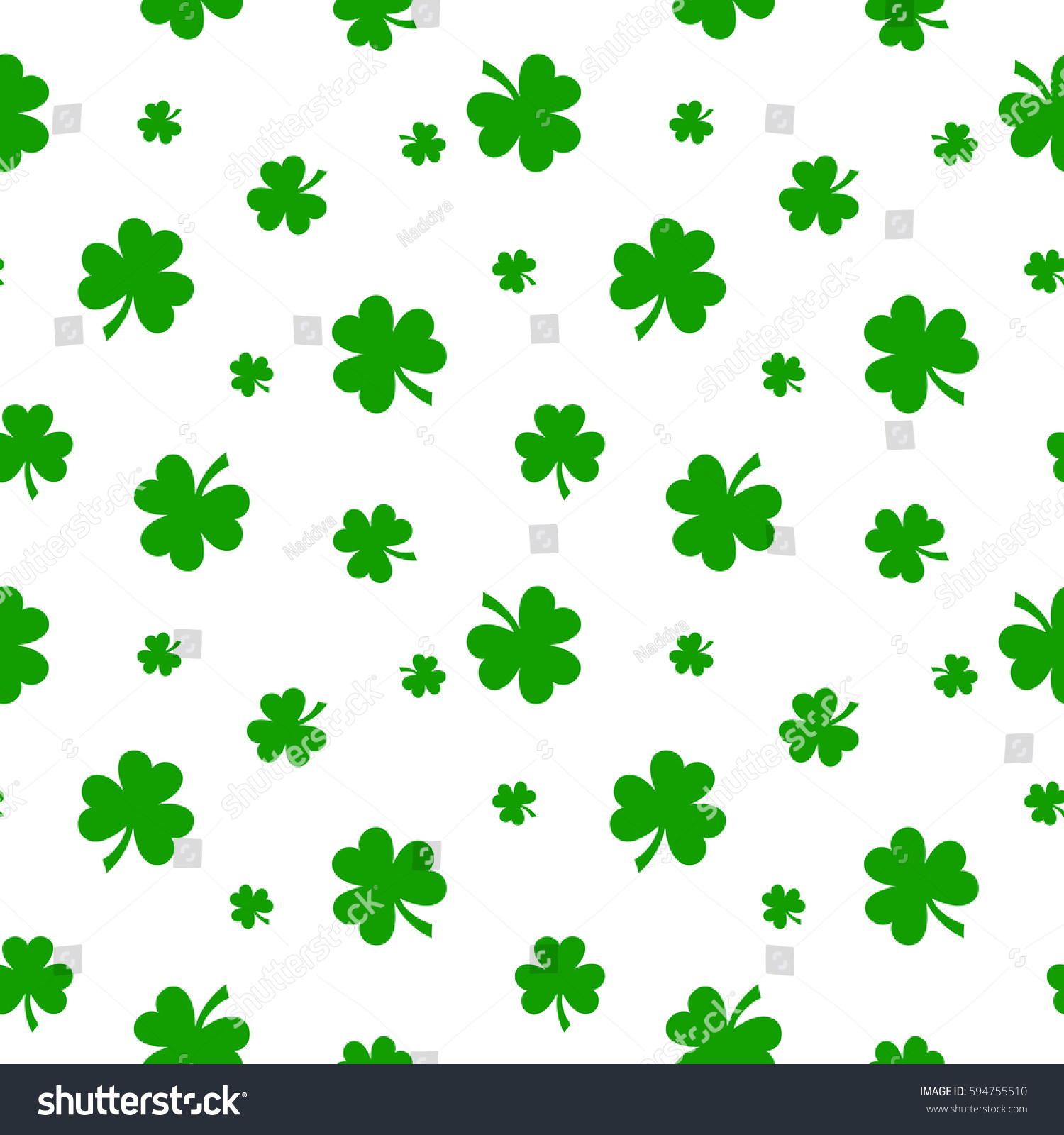 vector st patricks day seamless pattern stock vector 594755510