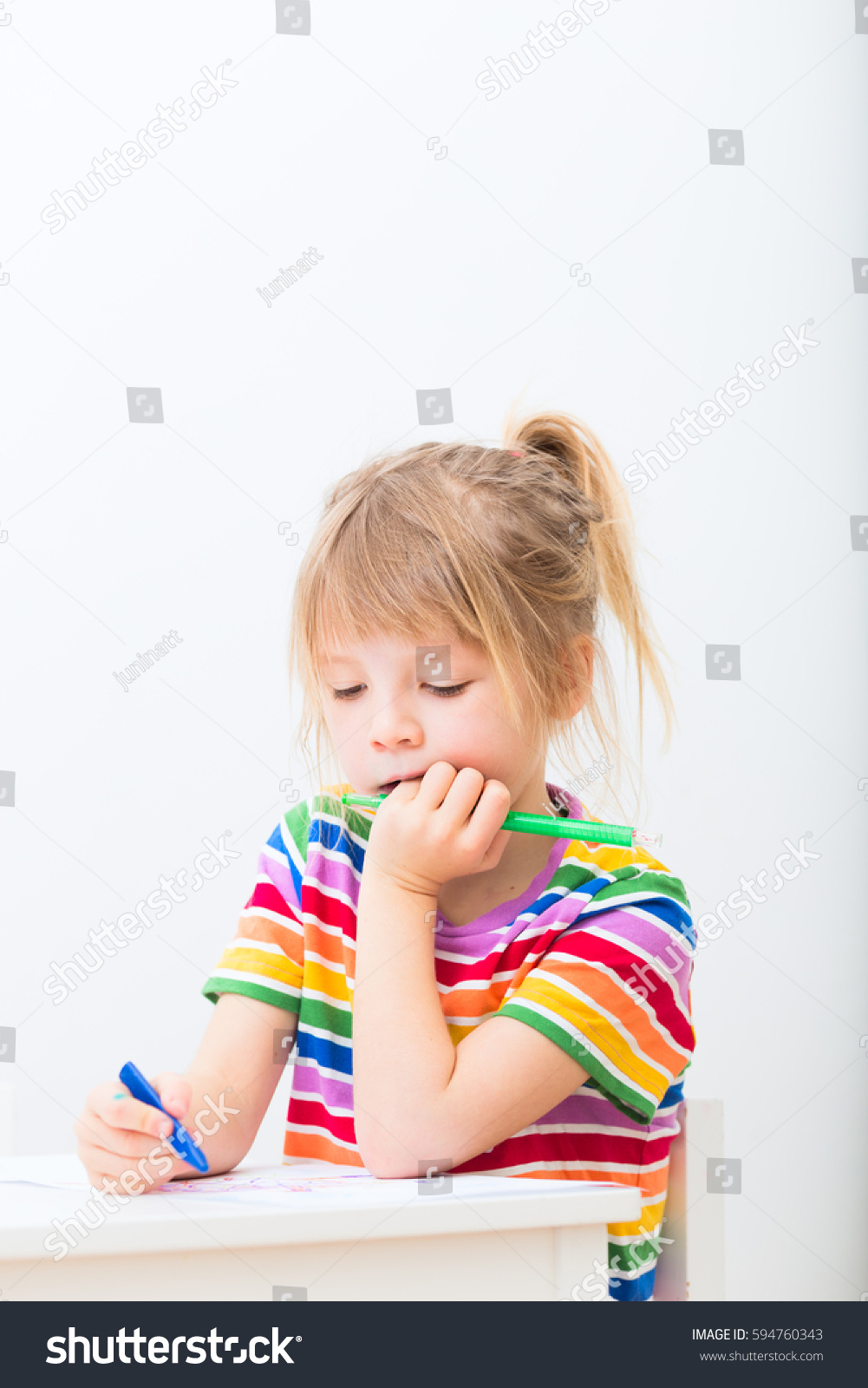 small cute girl elementary school age stock photo edit now