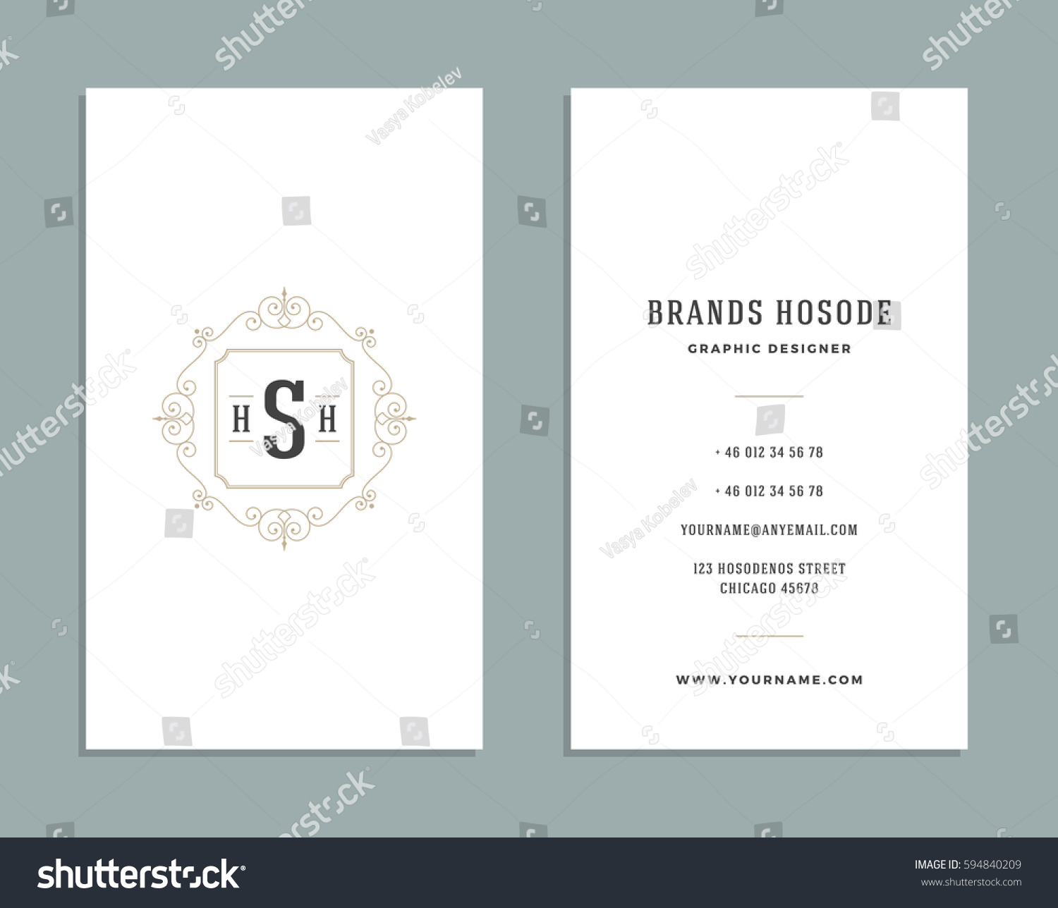 Vintage ornament business card vector template stock vector vintage ornament business card vector template retro luxury style royal design flourishes ornamental magicingreecefo Gallery