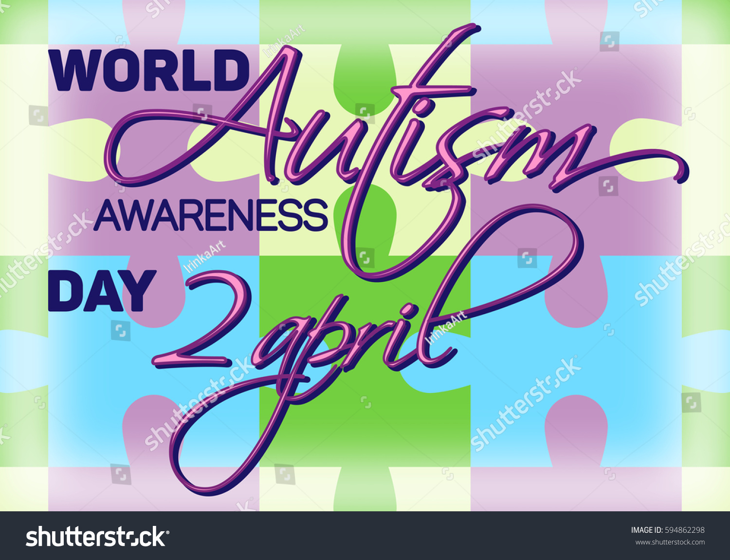 World autism awareness day colorful puzzles stock vector 594862298 world autism awareness day colorful puzzles vector background symbol of autism biocorpaavc
