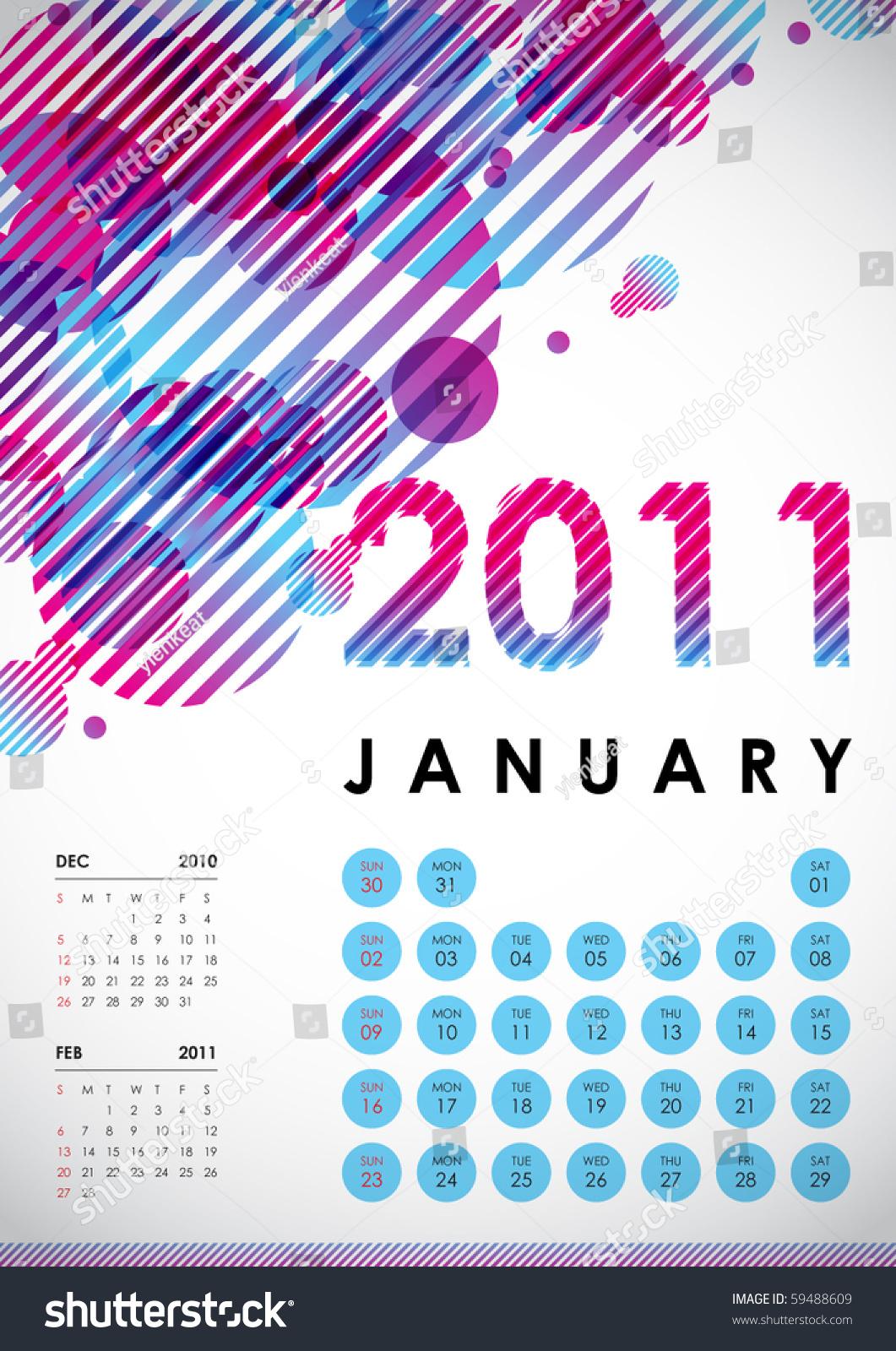 January Calendar Design : January calendar design stock vector illustration