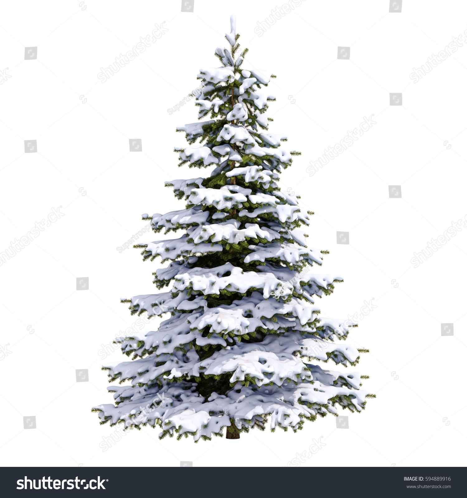 Snow Covered Christmas Tree Flocked Christmas Tree