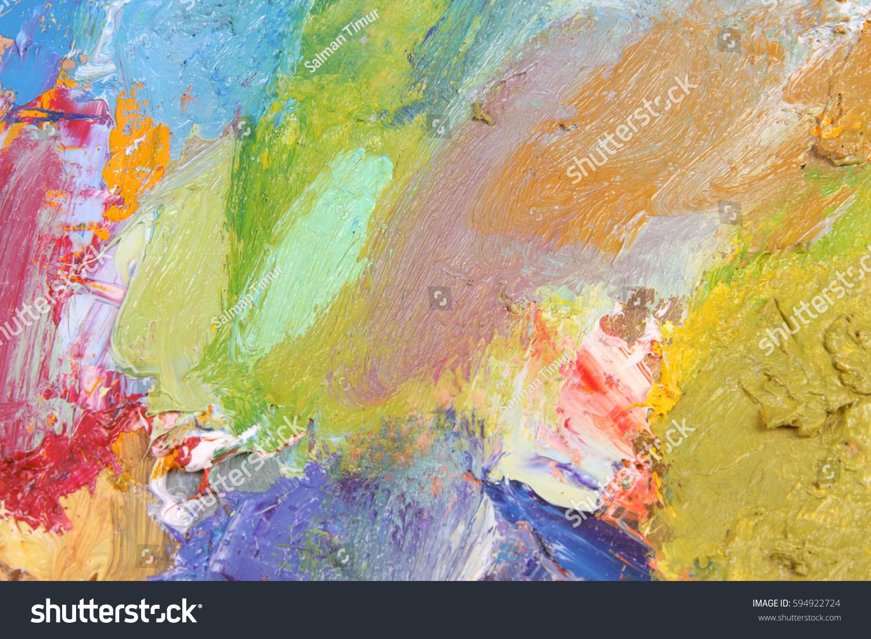 the texture color palette with mixed paints | EZ Canvas