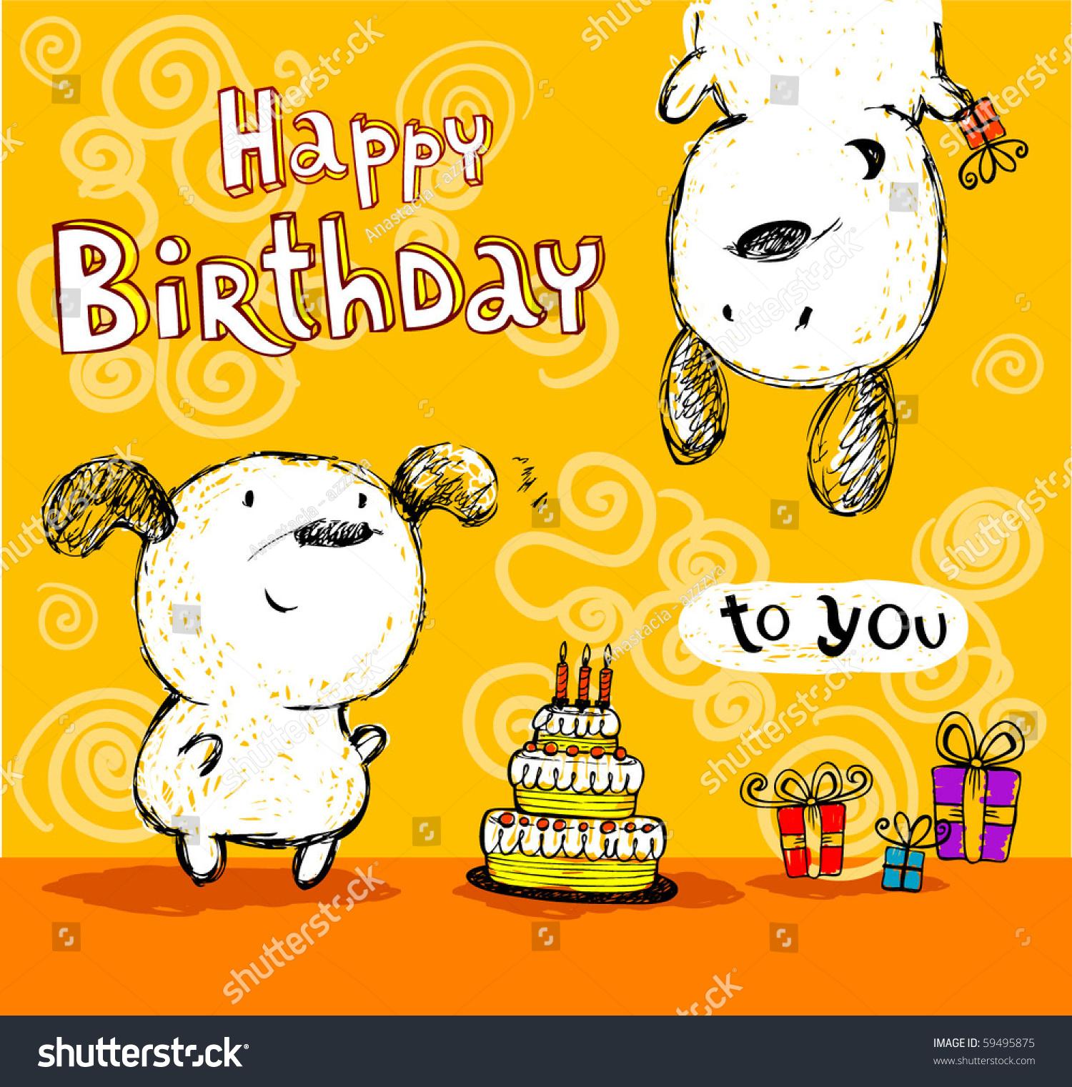 Birthday Card Friends Vector 59495875 Shutterstock – Birthday Card Friends