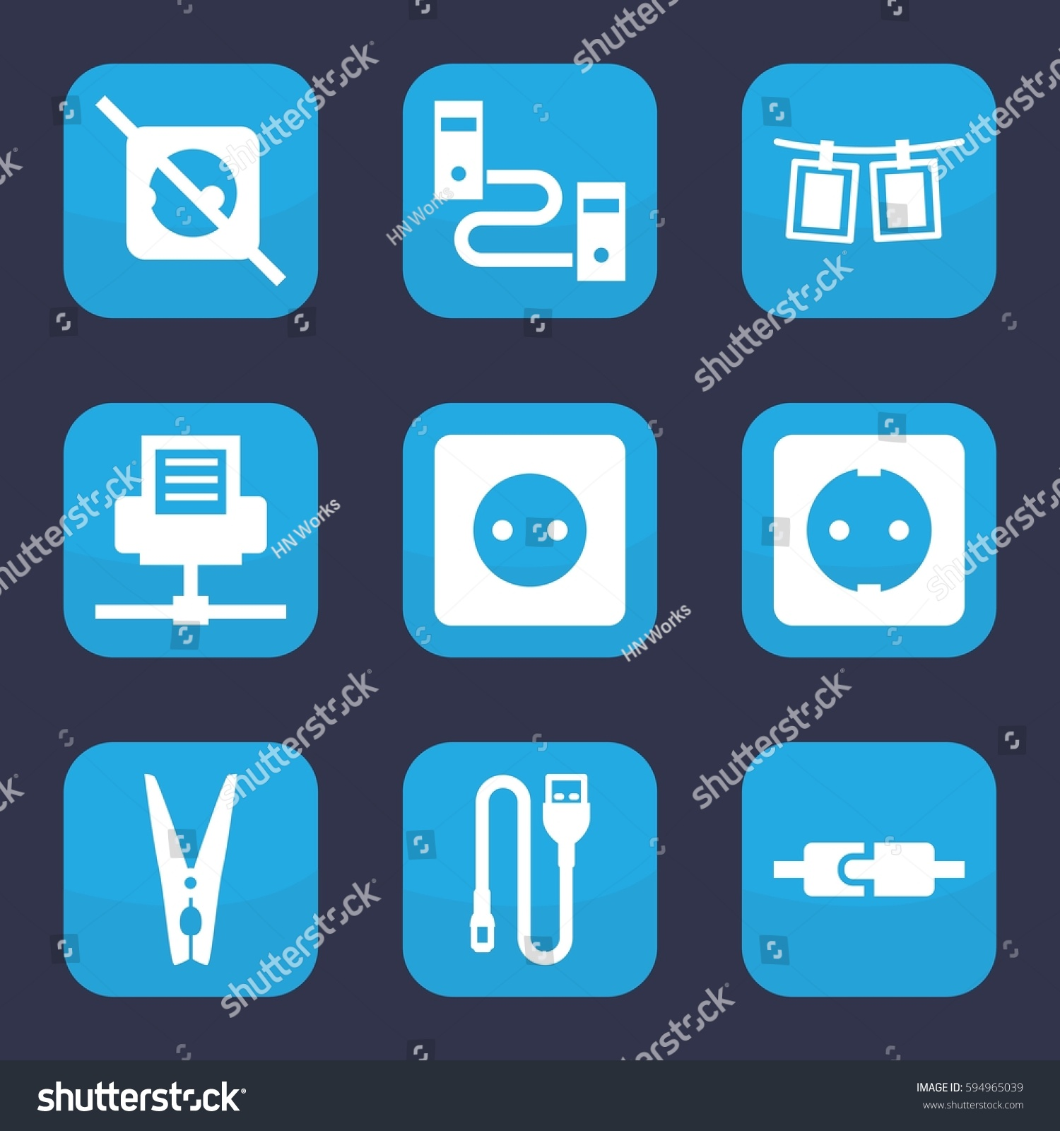 Wire Chord Icon Data Schema Kawasaki Klr650 A9 1995 Motorcycle Electrical Wiring Diagram All Cord Set 9 Filled Stock Vector Royalty Free 594965039 Rh Shutterstock Com Metal Chords Walking On A