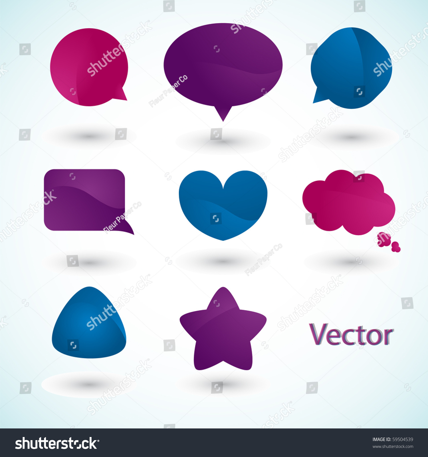 Speech Bubbles. Stock Vector Illustration 59504539