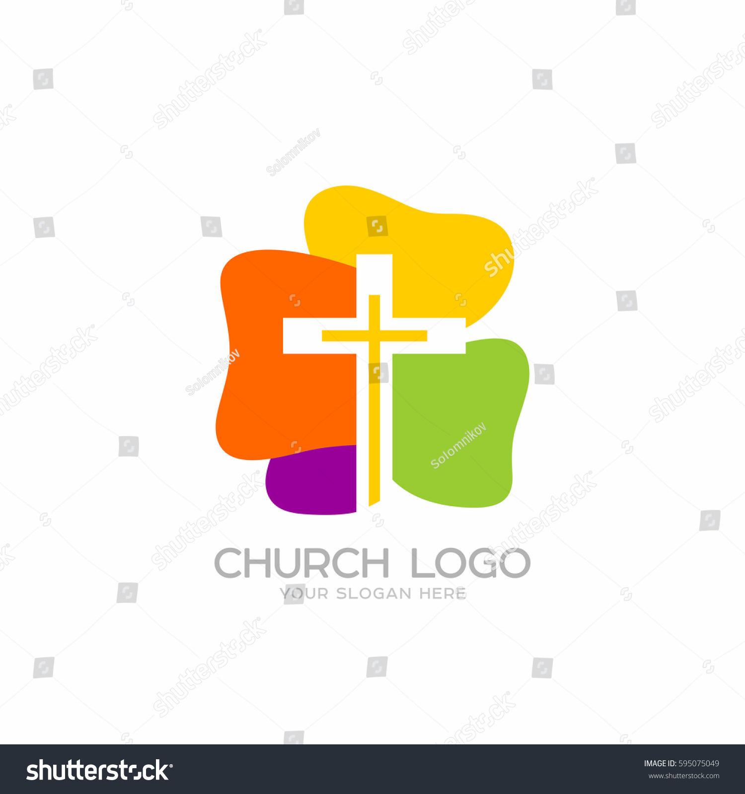 Church logo christian symbols cross lord stock vector 595075049 christian symbols cross of the lord and savior jesus christ biocorpaavc Image collections