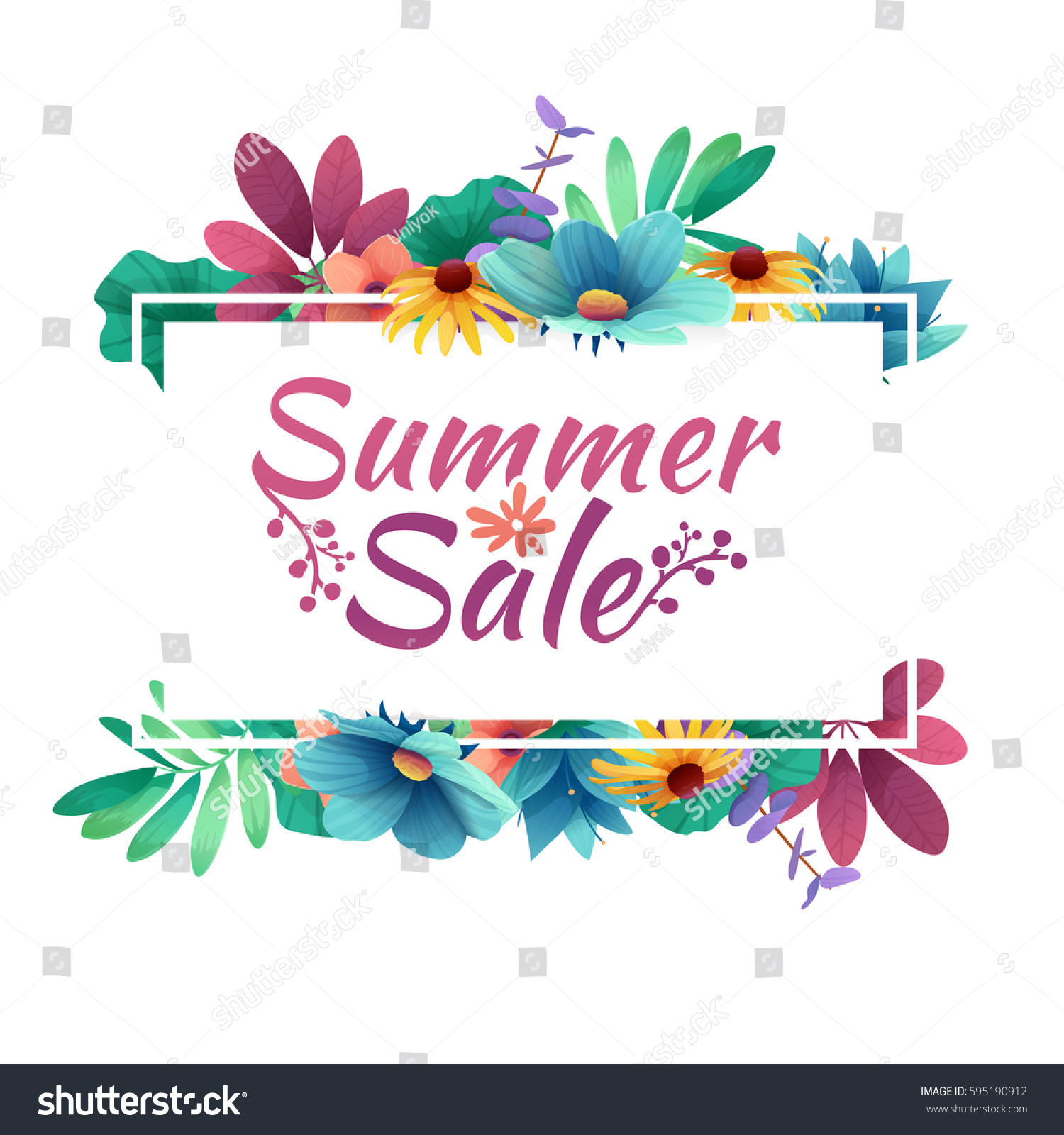 Design Banner Summer Sale Logo Discount Stock Vector (Royalty Free ...