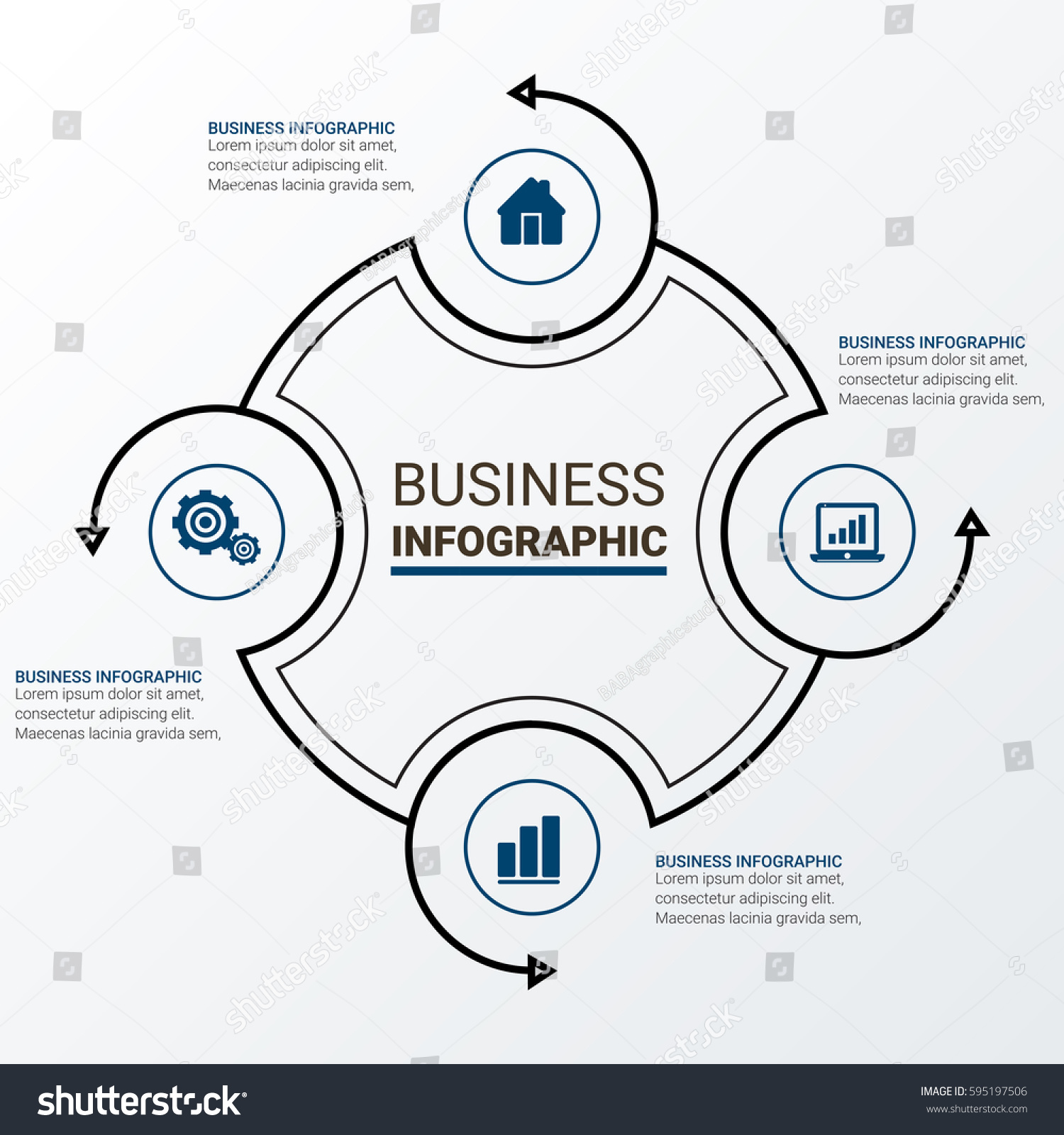 Modern Infographic Charts Vector Elements Stock Vector ...
