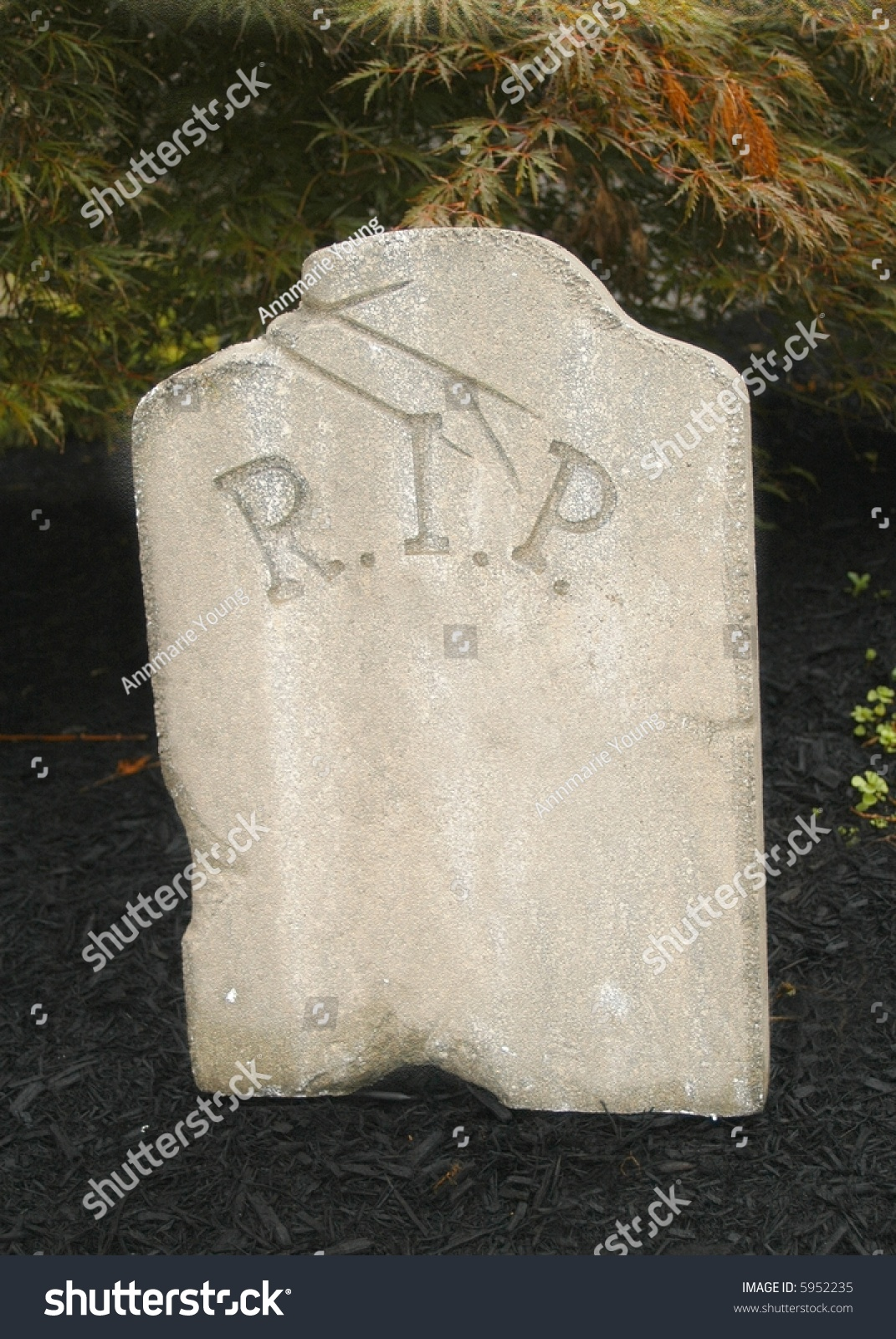 Halloween Tombstone With Blank Area For Writing Stock ...