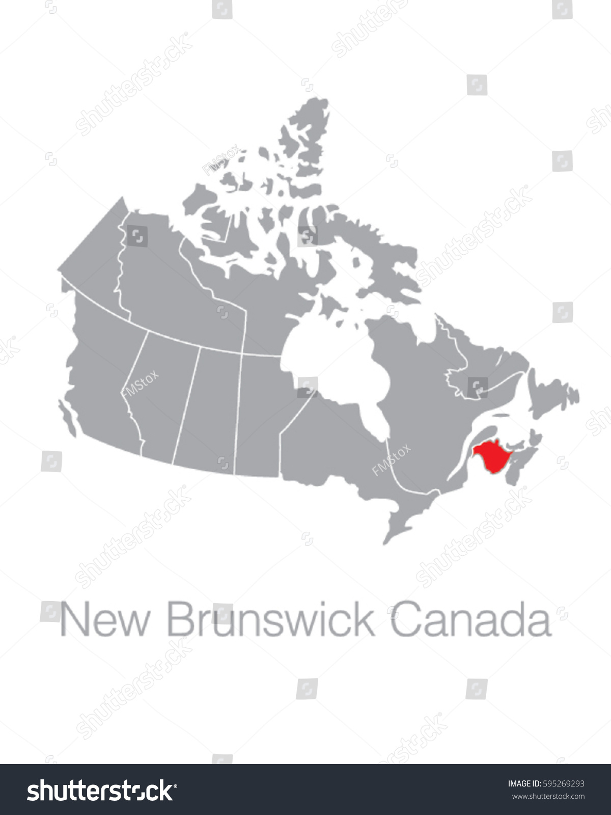 Map Of Canada New Brunswick.Vector Map Canada Highlighting Province New Stock Vector Royalty