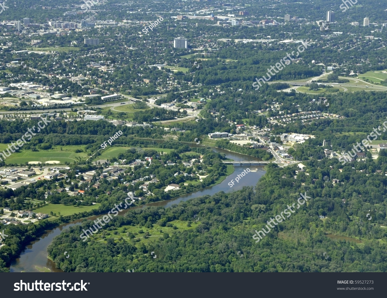 Kitchener (ON) Canada  city pictures gallery : Bridgeport Area Kitchener Waterloo Ontario Canada Stock Photo 59527273 ...