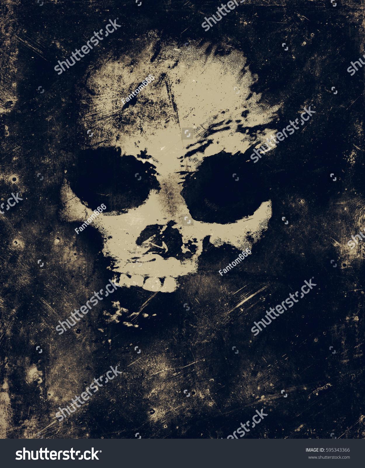 Simple Wallpaper Halloween Skull - stock-photo-scary-grunge-skull-wallpaper-halloween-background-595343366  Trends_423487.jpg