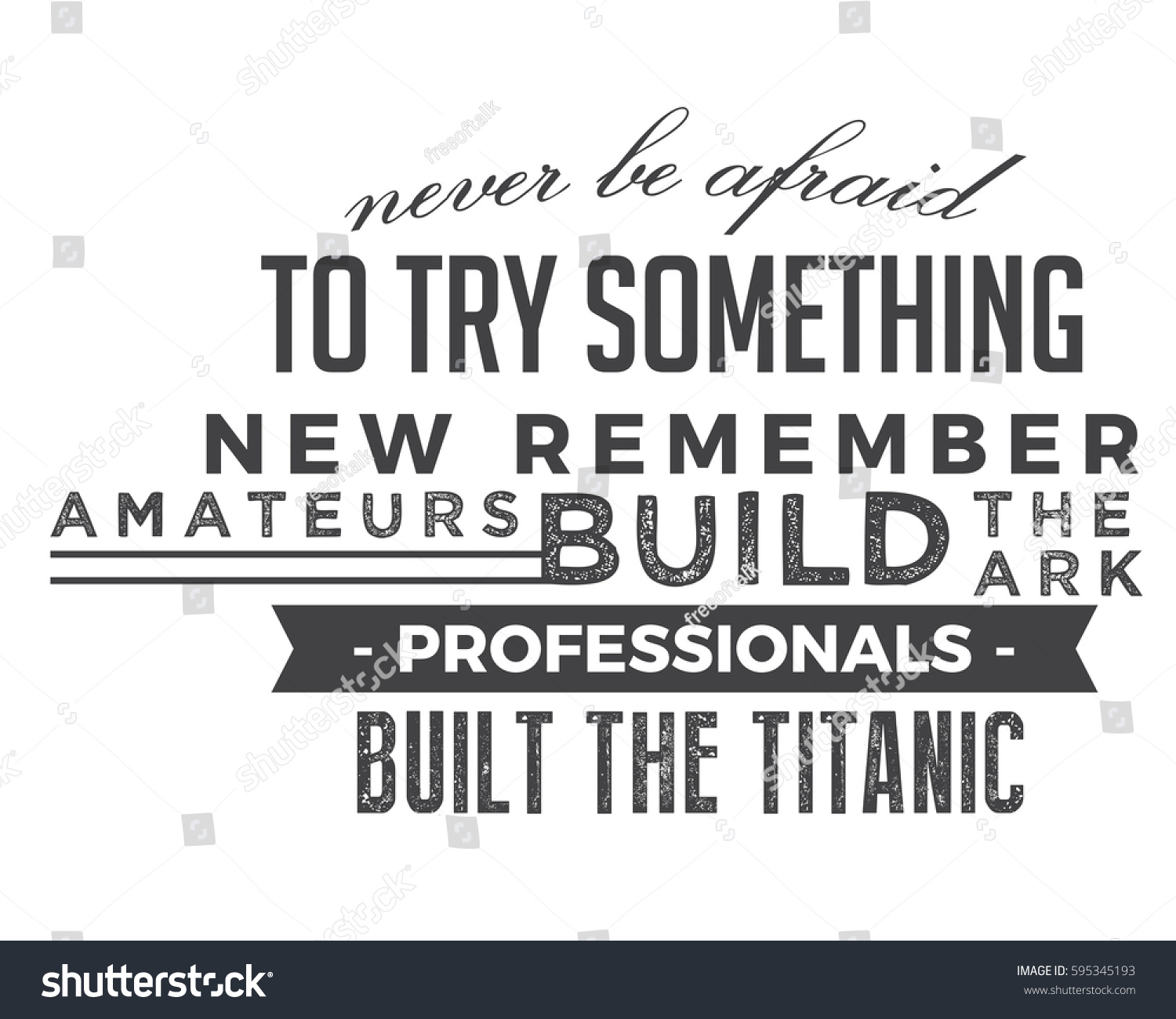 Never Be Afraid Try Something New Stock Vector Royalty Free
