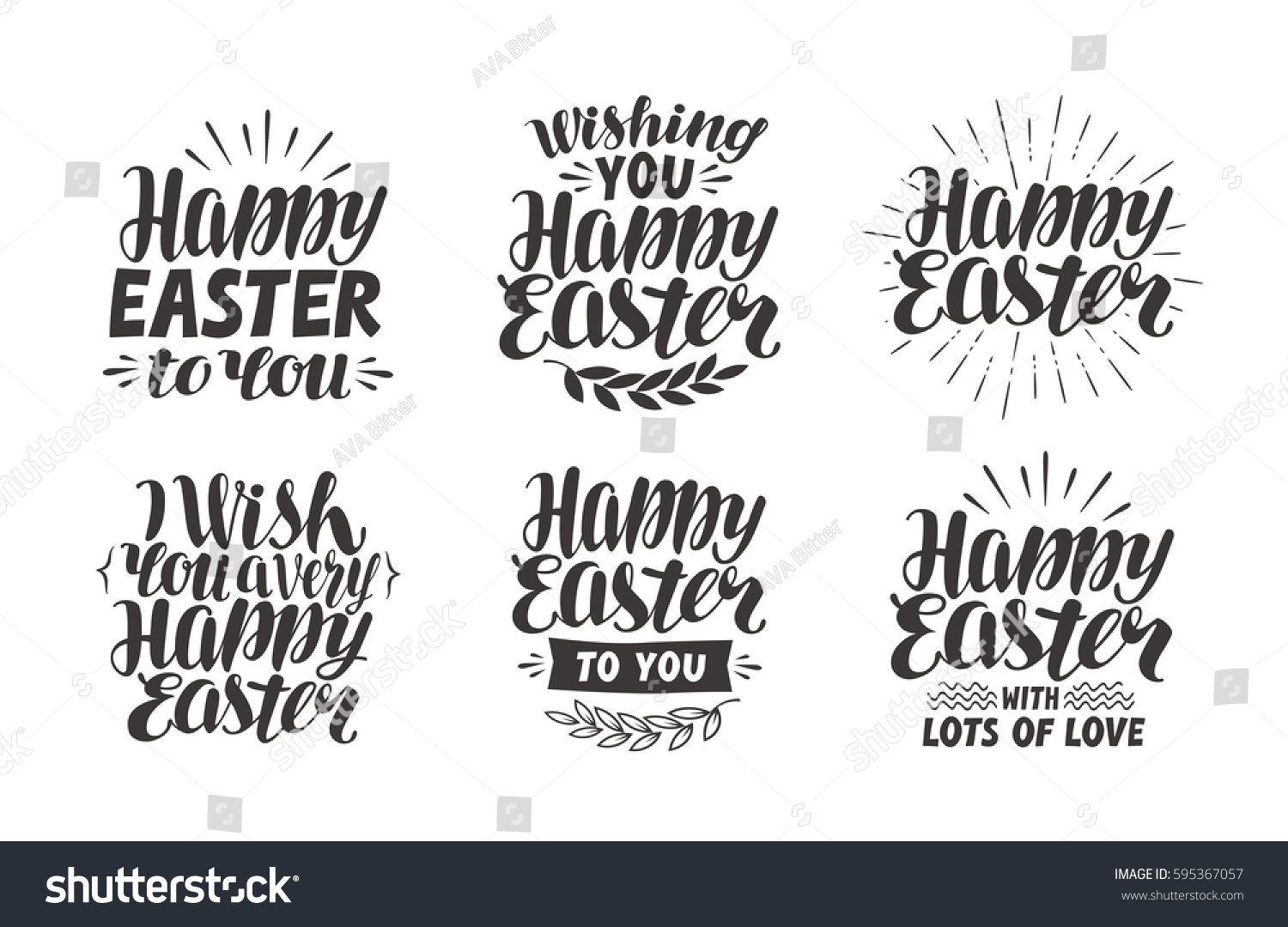 Happy Easter Greeting Card Religious Holiday Stock Vector Royalty