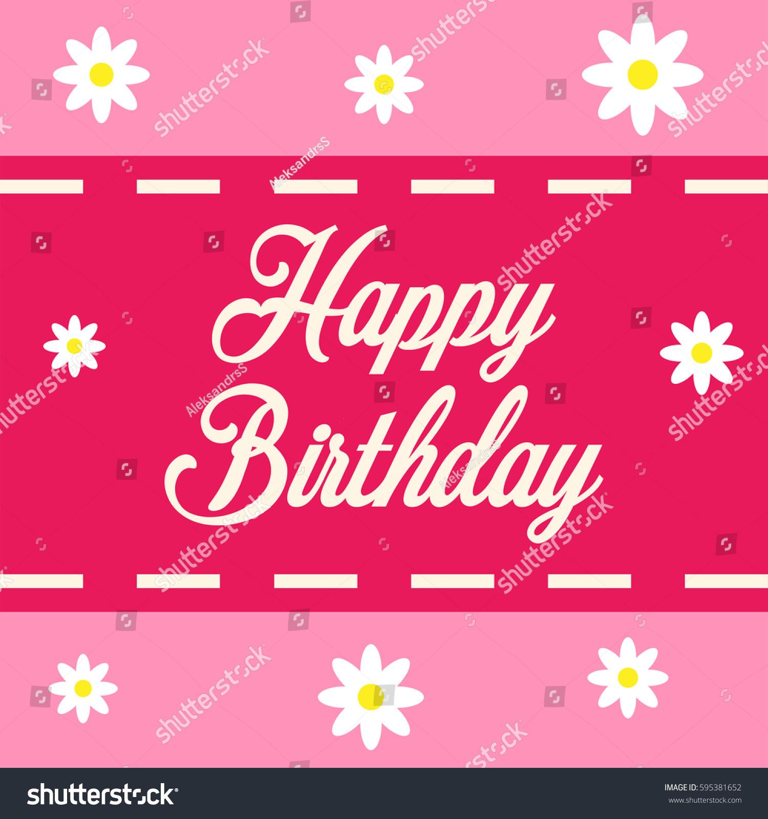 Happy birthday greeting card flowers stock vector 595381652 happy birthday greeting card with flowers kristyandbryce Gallery