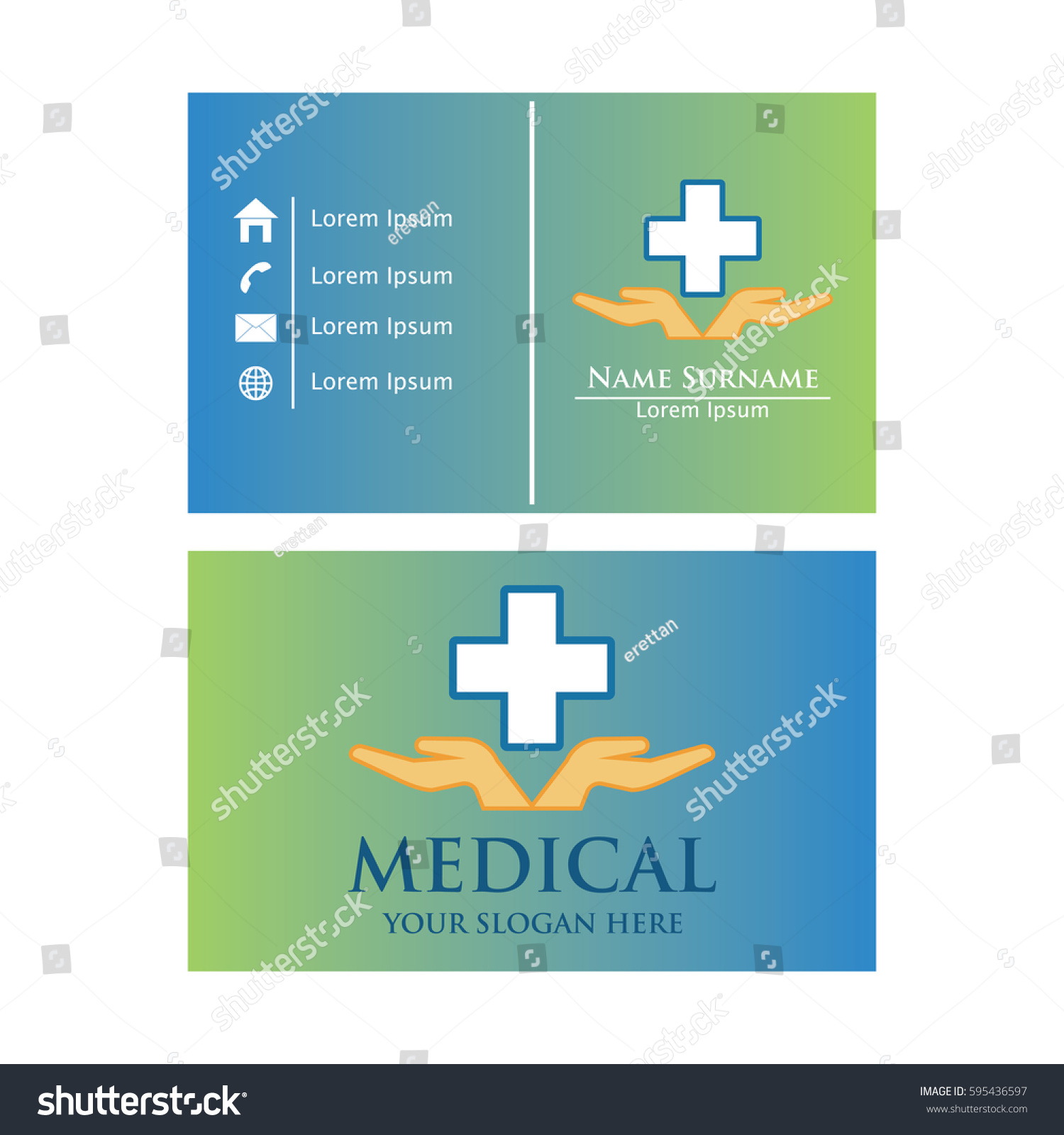 Medical Business Card Design Stock Vector HD (Royalty Free ...