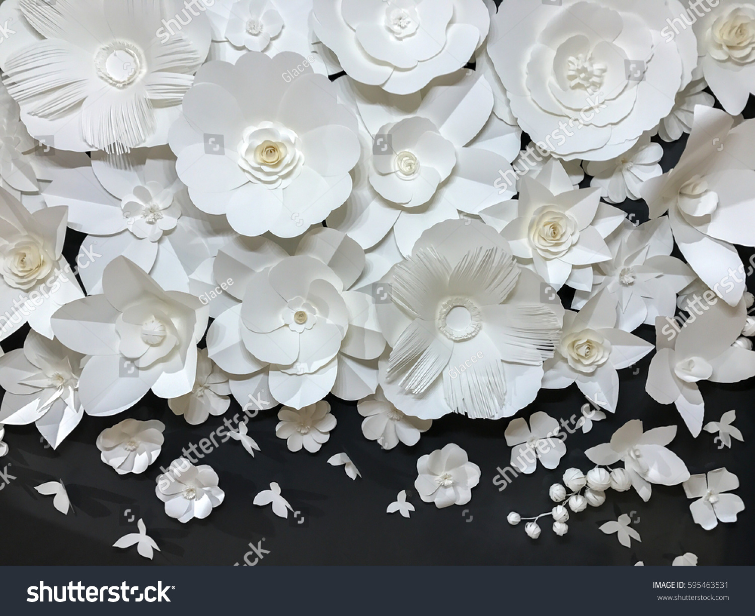 Beautiful Group Of Variety Style Handmade Quilling White Floral