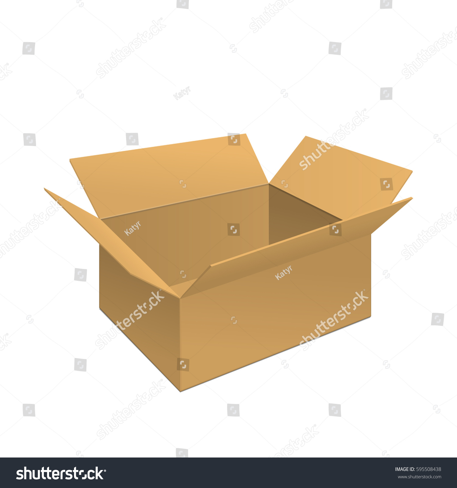 Vector Illustration Clear Gift Carton Box Vectores En Stock ...