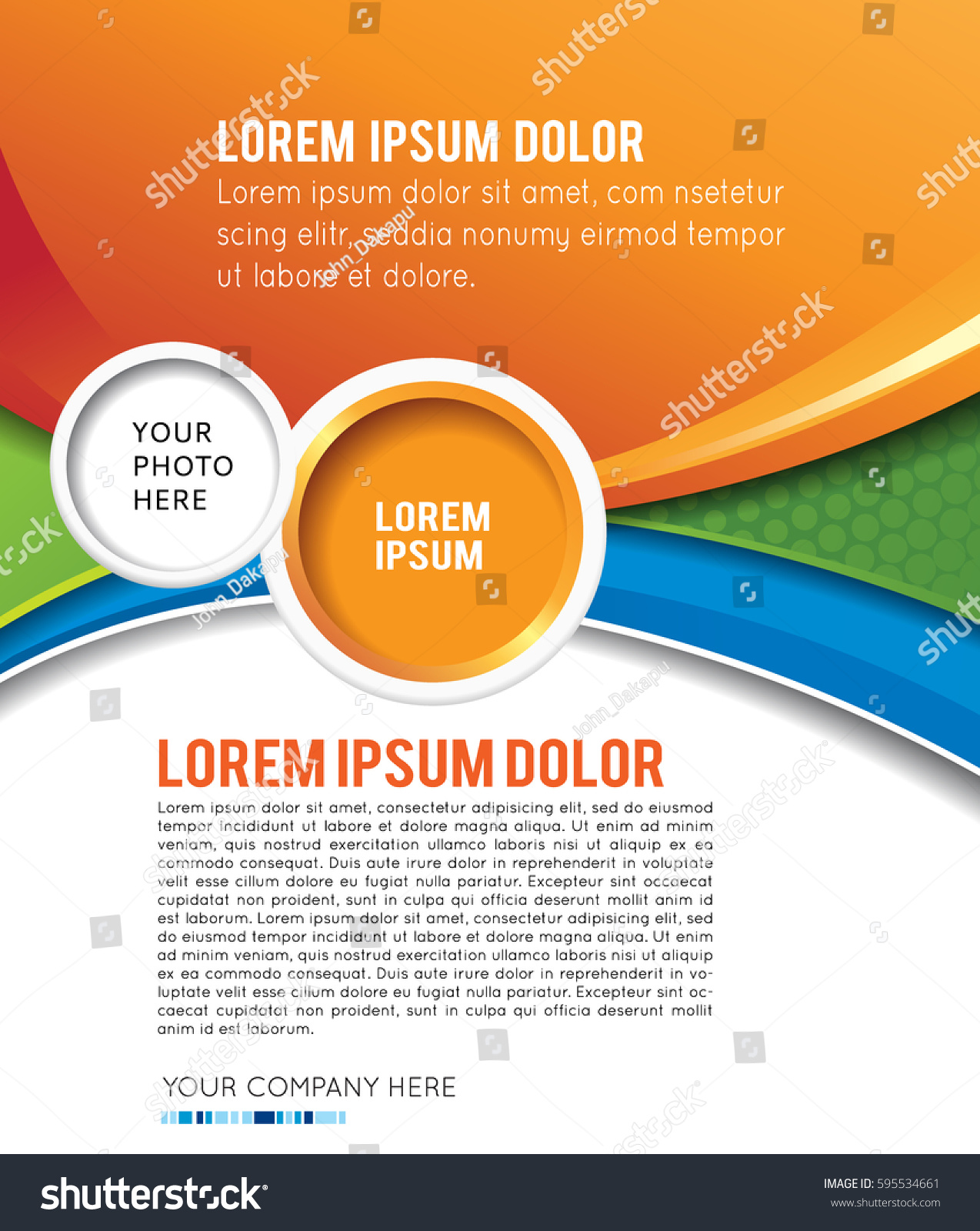 Poster design layout templates - Stylish Presentation Of Business Poster Magazine Cover Design Layout Template
