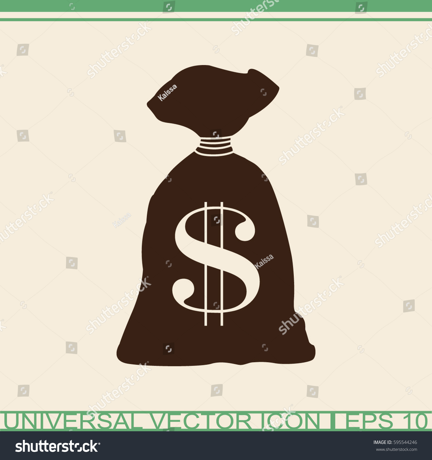 Money Bag Icon Dollar Usd Currency Stock Vector Royalty Free