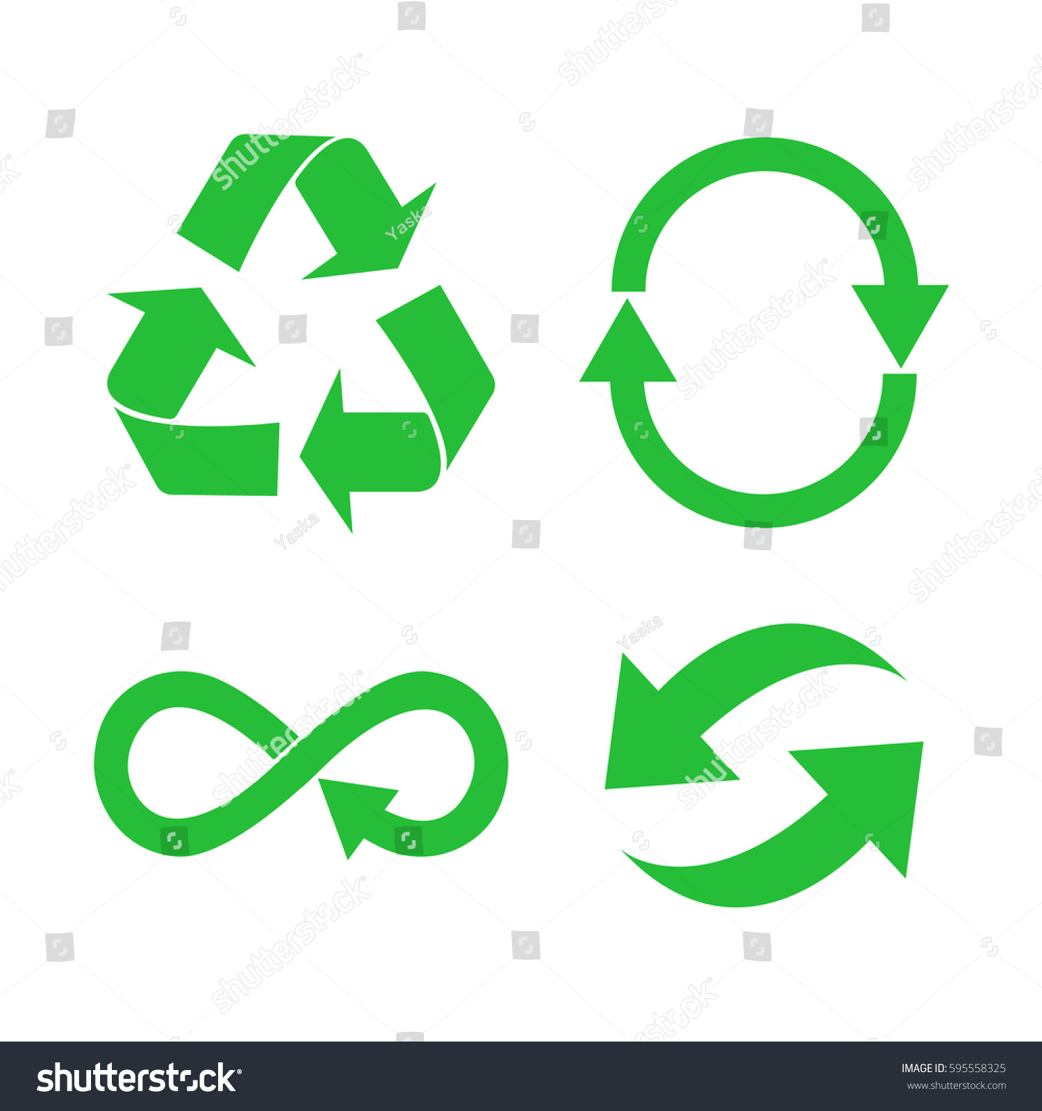 eco organic ecology recycle green symbol stock vector royalty free