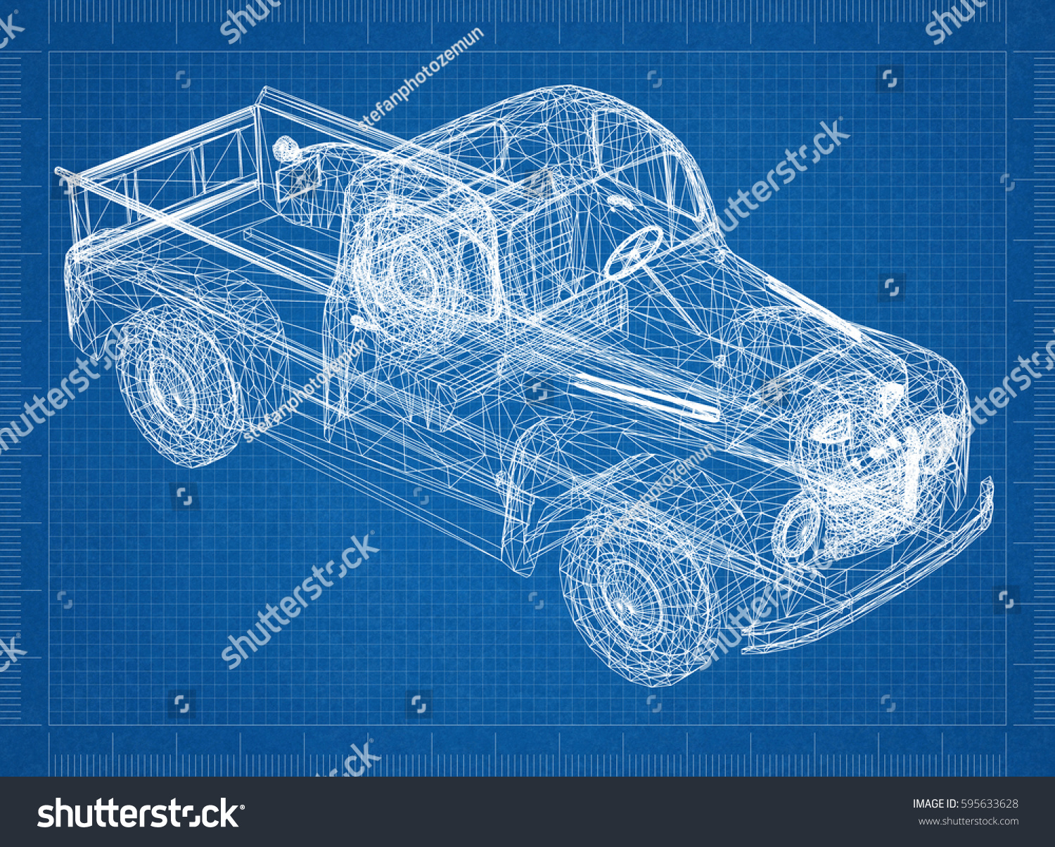 Car blueprint 3d perspective stock illustration 595633628 car blueprint 3d perspective malvernweather Images