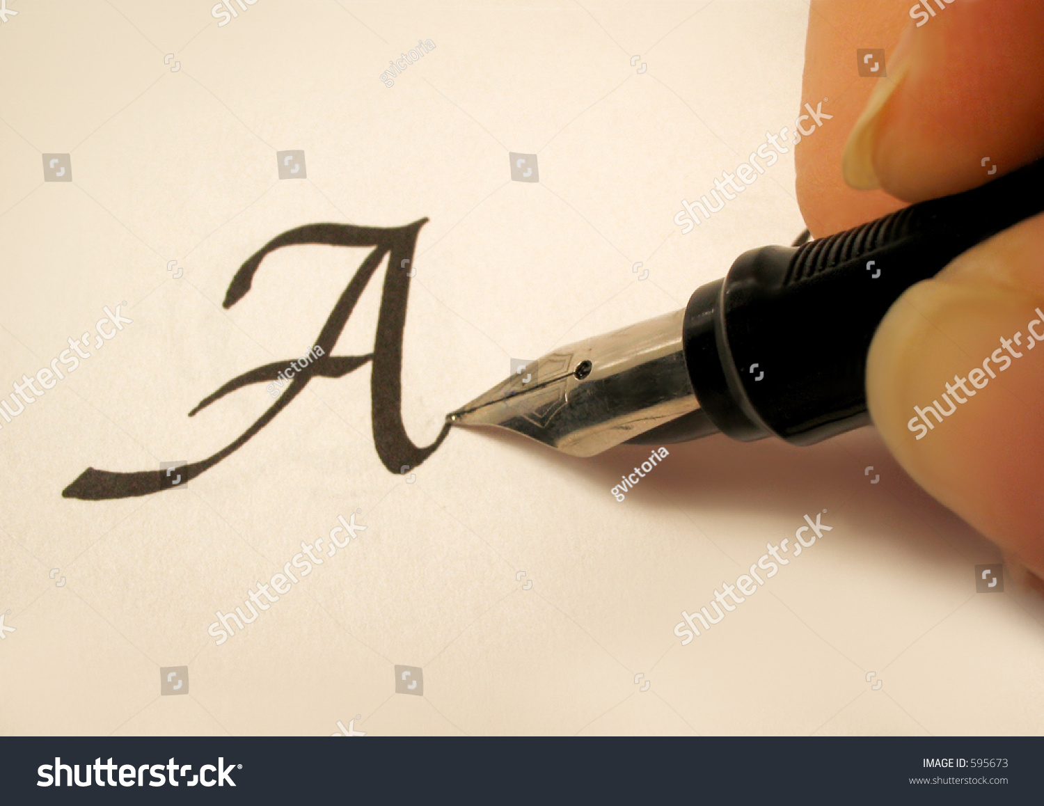 Calligraphy pen and writing stock photo shutterstock