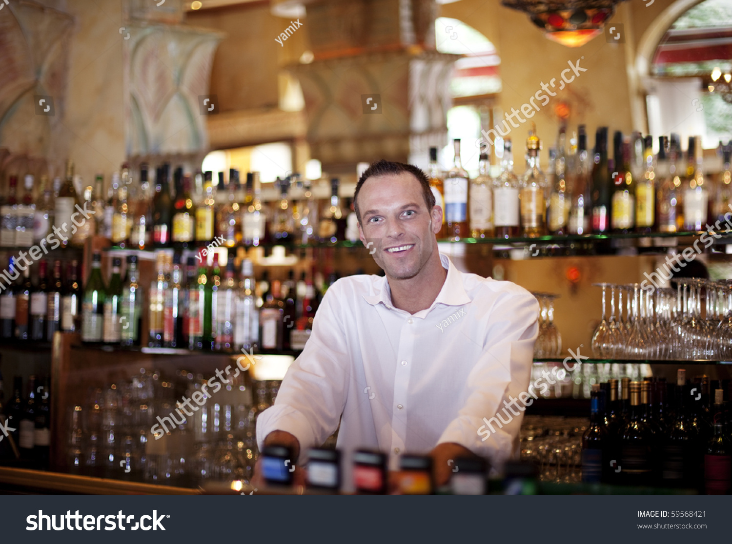 Friendly Bar Tender Our Very Own Stock Photo Edit Now