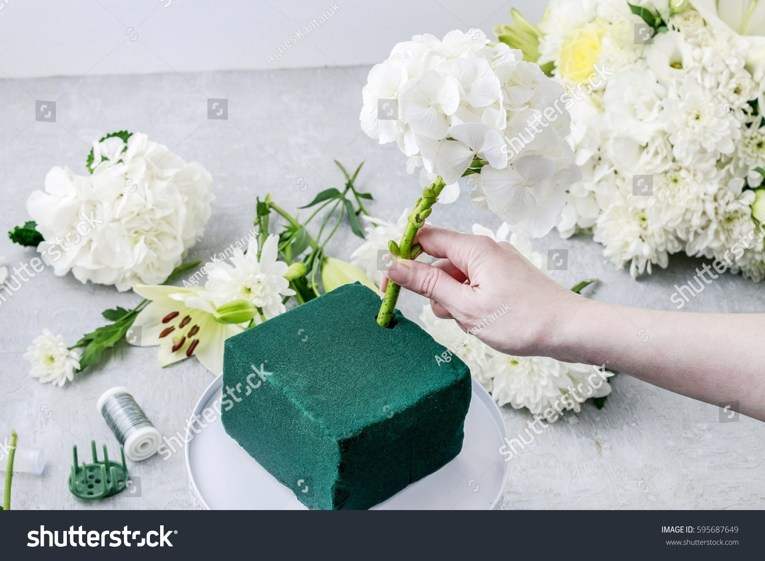Florist Work How Make Luxurious Floral Stock Photo Edit Now
