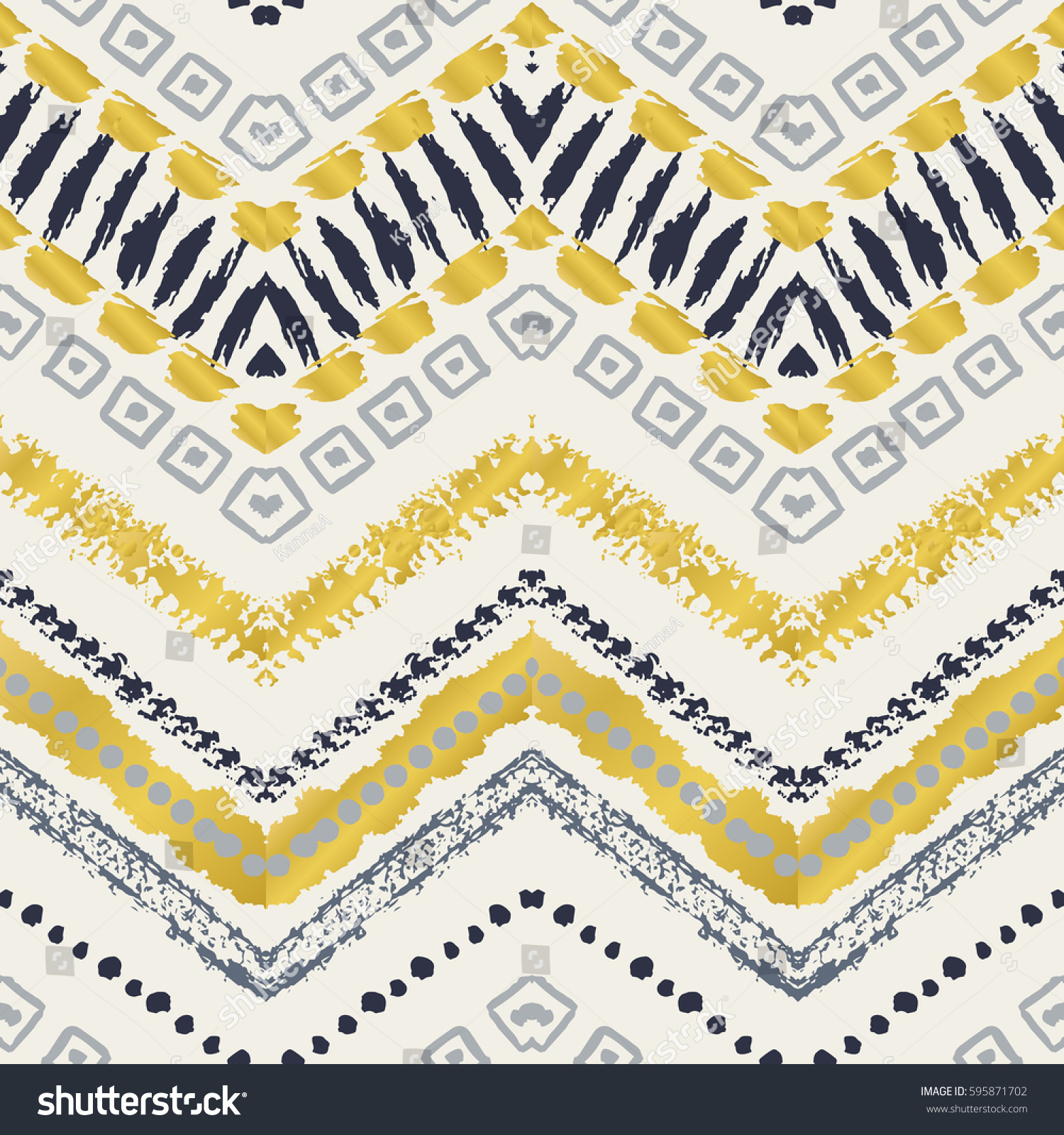 Tribal ethnic seamless pattern Vector illustration for fashion design Aztec watercolor background Cute