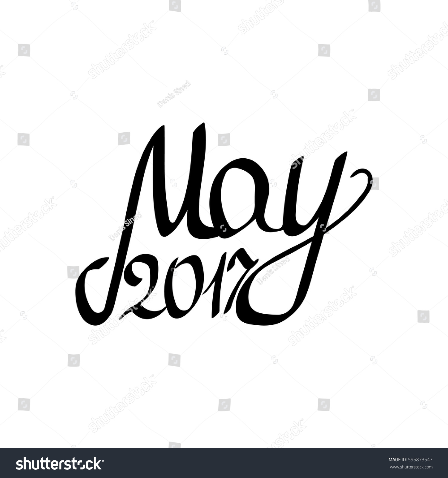May isolated calligraphy lettering word stock vector