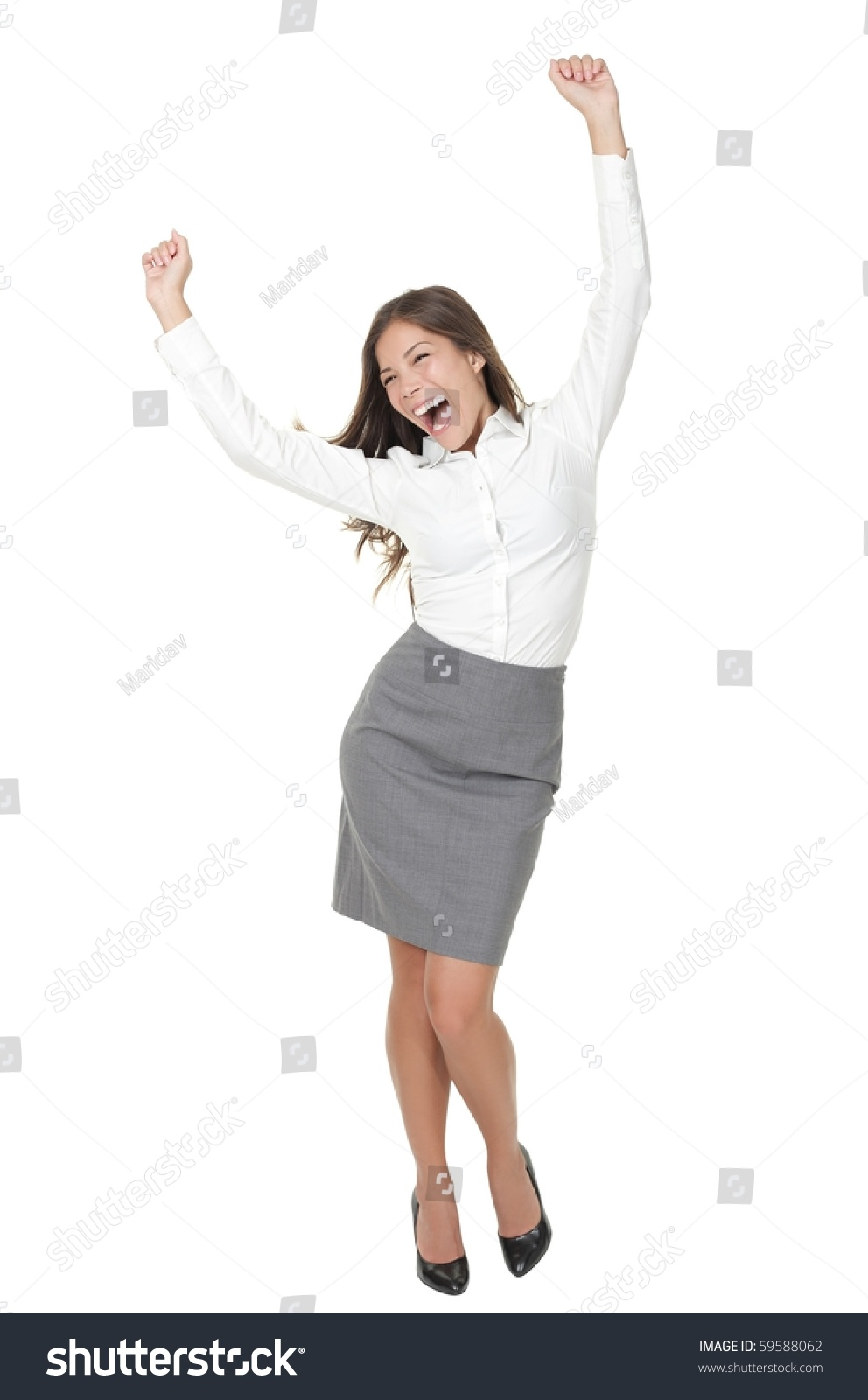 success w celebrating winner dance casual stock photo  success w celebrating in winner dance casual young successful businessw dancing very happy full