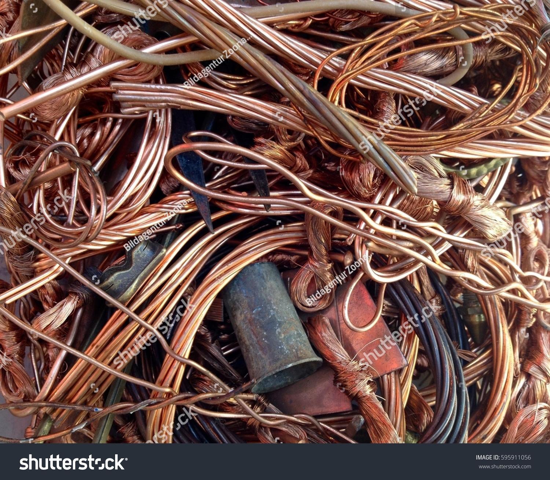 Copper Scrap Recycling Stock Photo (Edit Now) 595911056 - Shutterstock