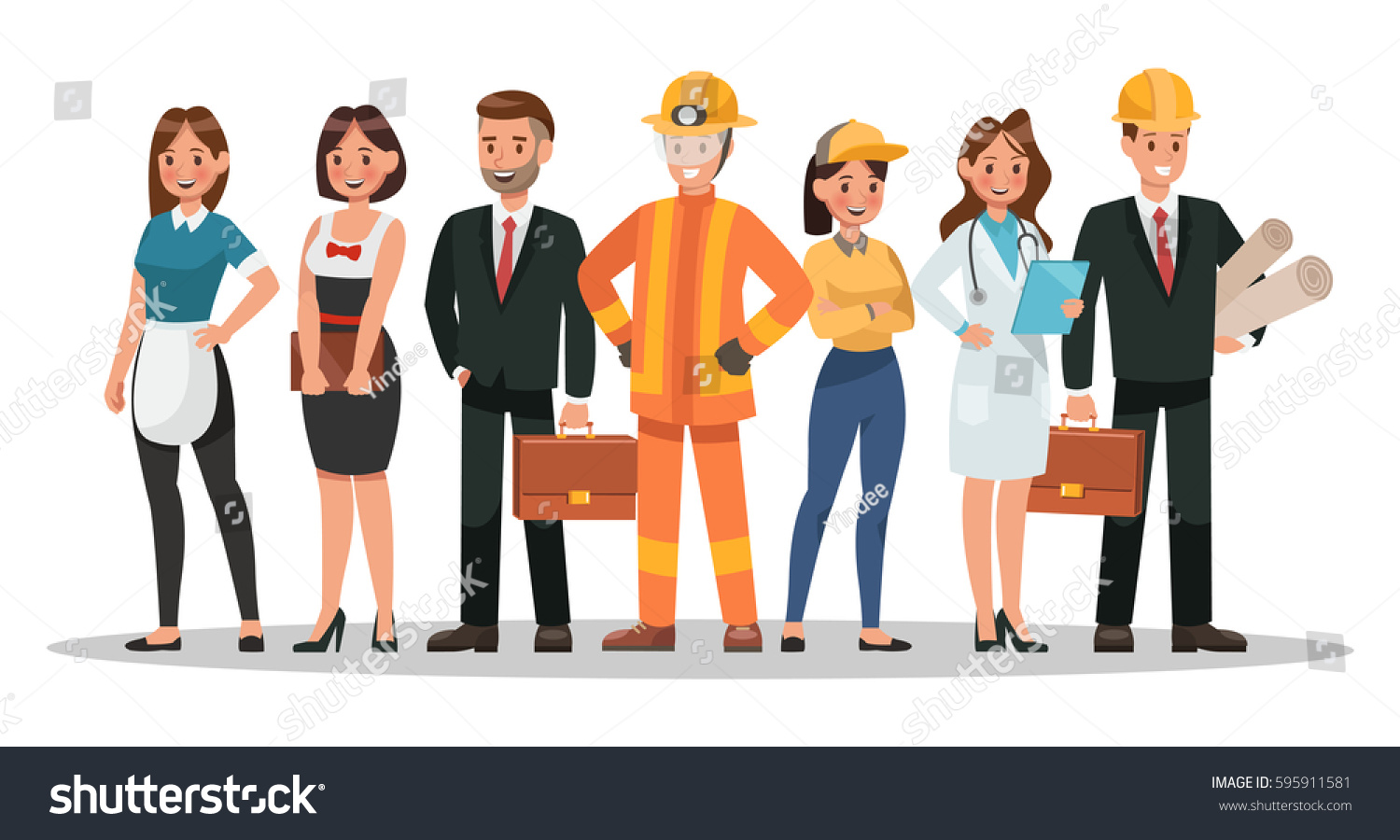 career characters design include waiter businessman stock vector 595911581 shutterstock. Black Bedroom Furniture Sets. Home Design Ideas