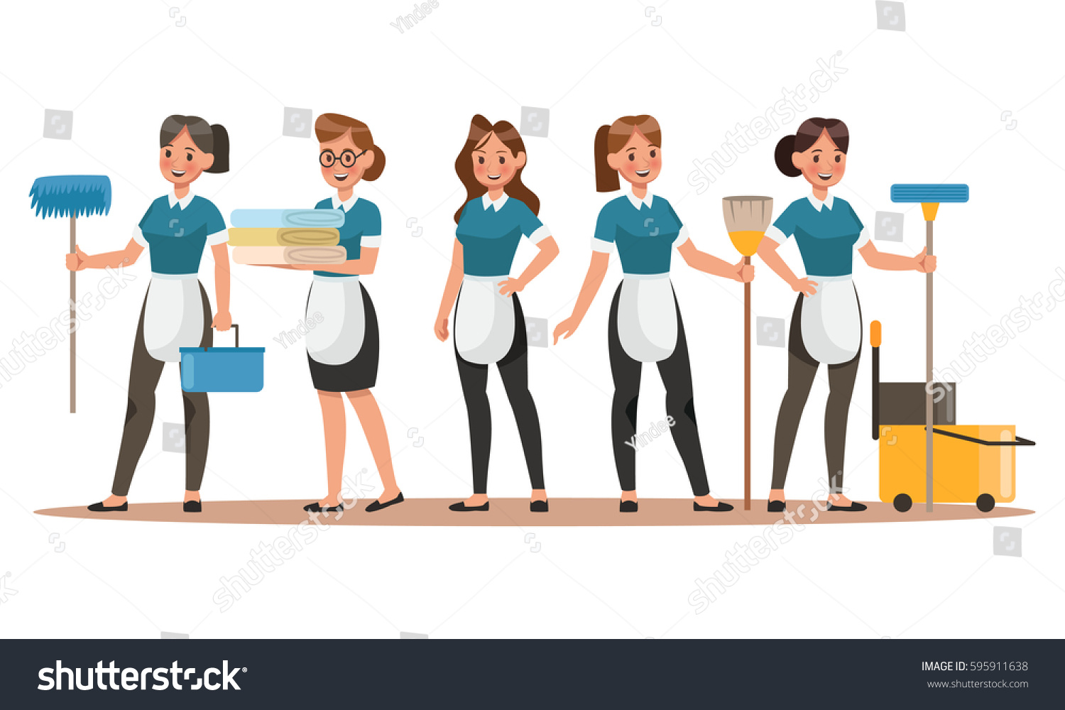 Cleaning staff characters design happy cleaning stock vector 2018 cleaning staff characters design happy cleaning cleaning company vector concept design thecheapjerseys Images