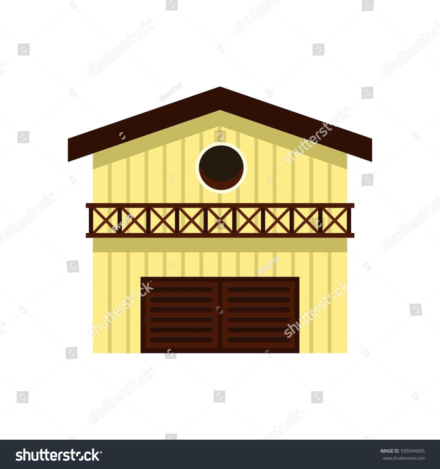 Barn Animals Icon Flat Style Isolated Stock Vector 595944065