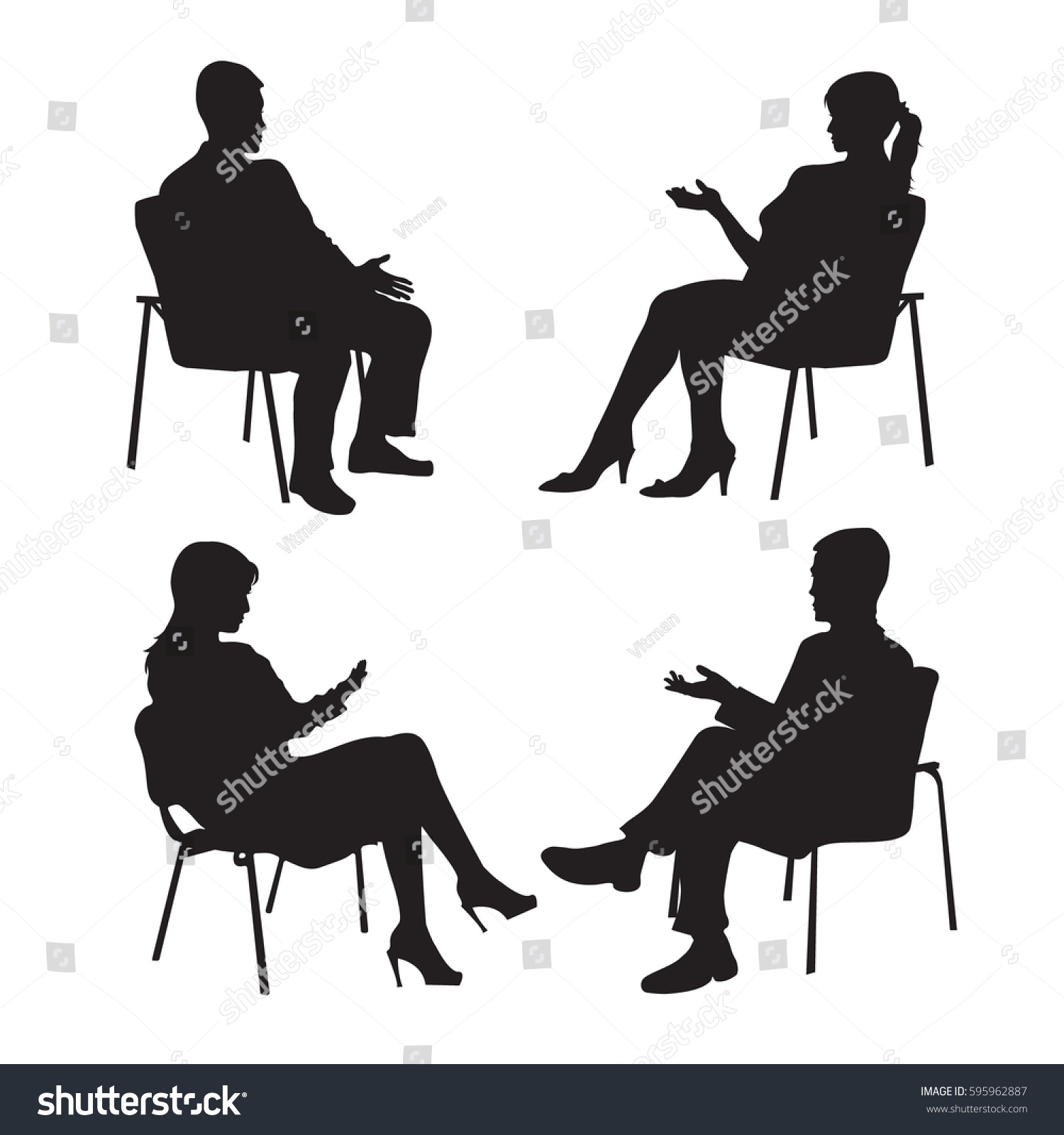 Set Psychologist Client Psychotherapy Psycho Therapeutic