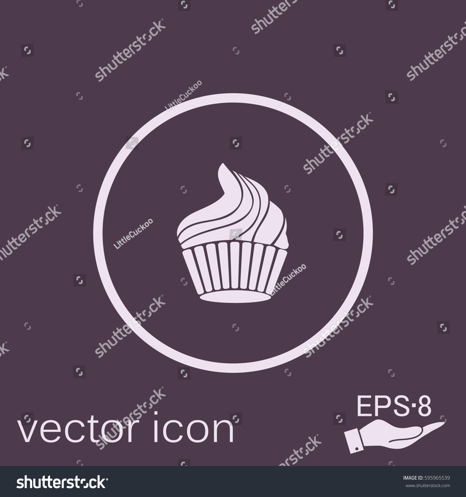 Birthday cake icon symbol cake celebrating stock vector 595965539 birthday cake icon symbol of cake celebrating the birthday of the loaf biocorpaavc