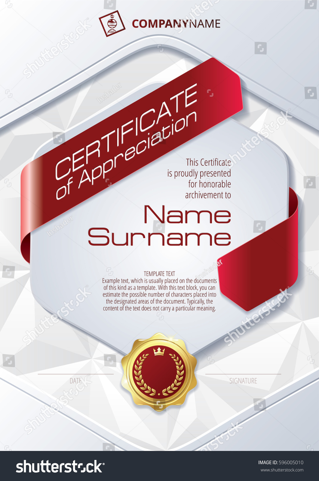 Certificate of appreciation jostens images certificate design certificate of appreciation meaning choice image certificate stylized template certificate appreciation ribbons triangular yadclub images yadclub Choice Image