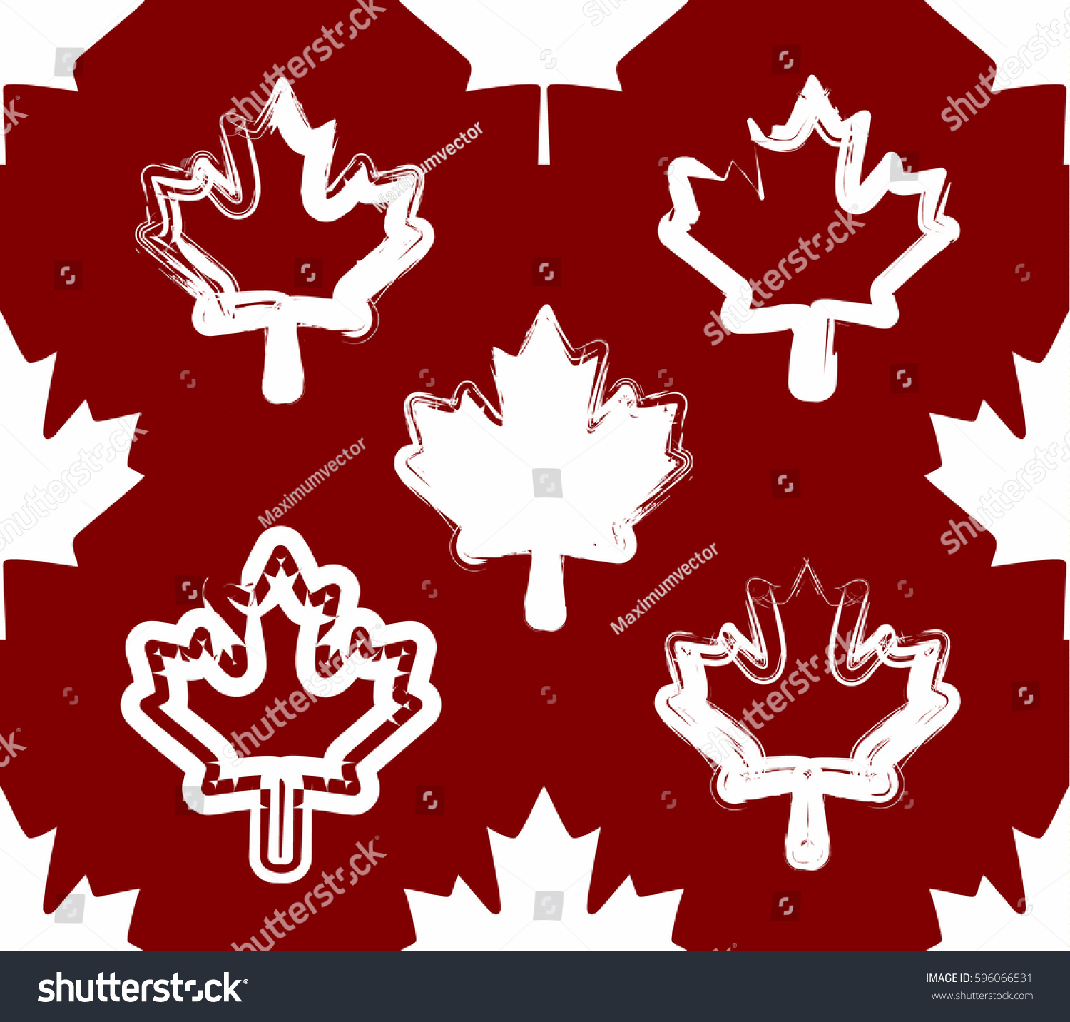 Seamless Canada Maple Leaf Pattern Vector Stock Vector