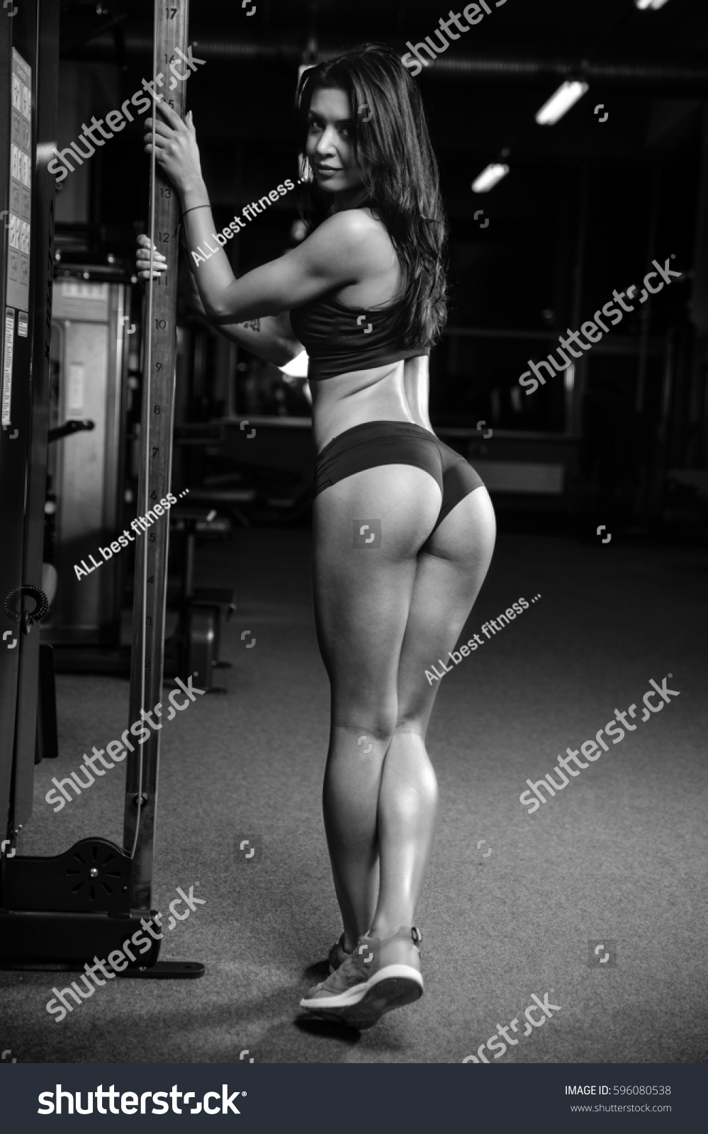 pretty fitness sexy model luxury ass stock photo (royalty free