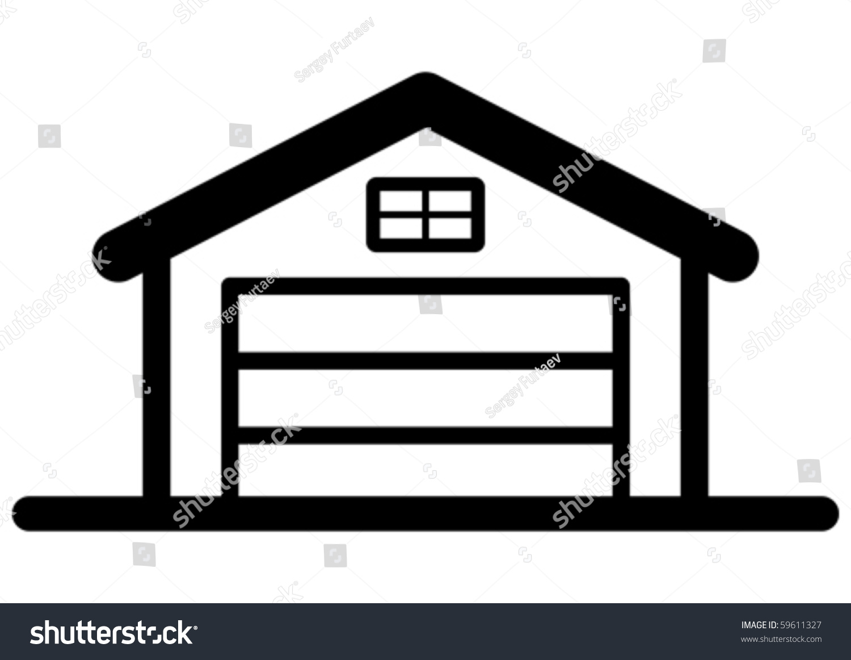 Garage Icon Stock Vector 59611327 Shutterstock