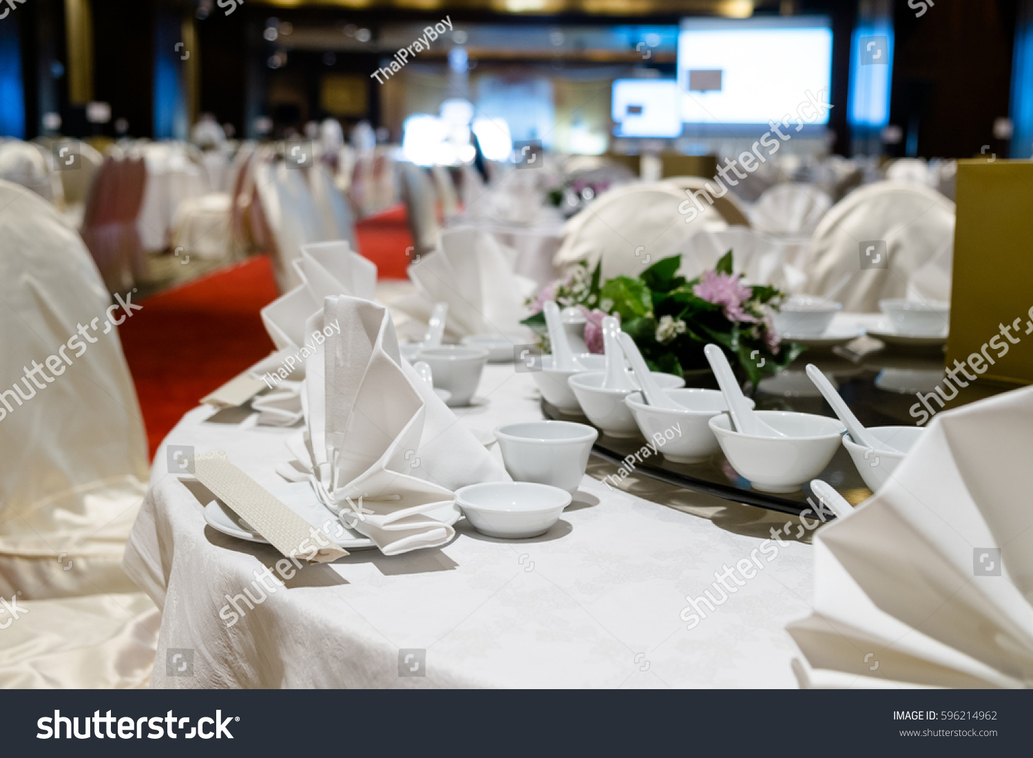 Indoor Dinner Table No Body Luxury Stock Photo Royalty Free