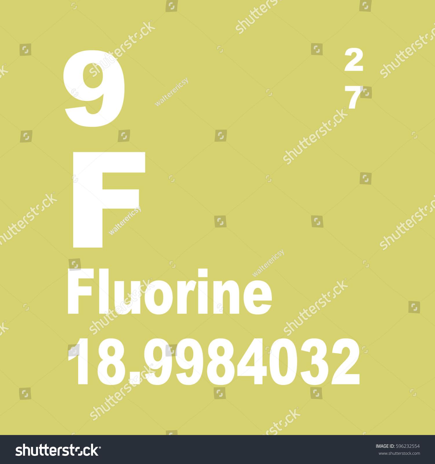 Fluorine periodic table elements stock illustration 596232554 fluorine periodic table of elements gamestrikefo Gallery