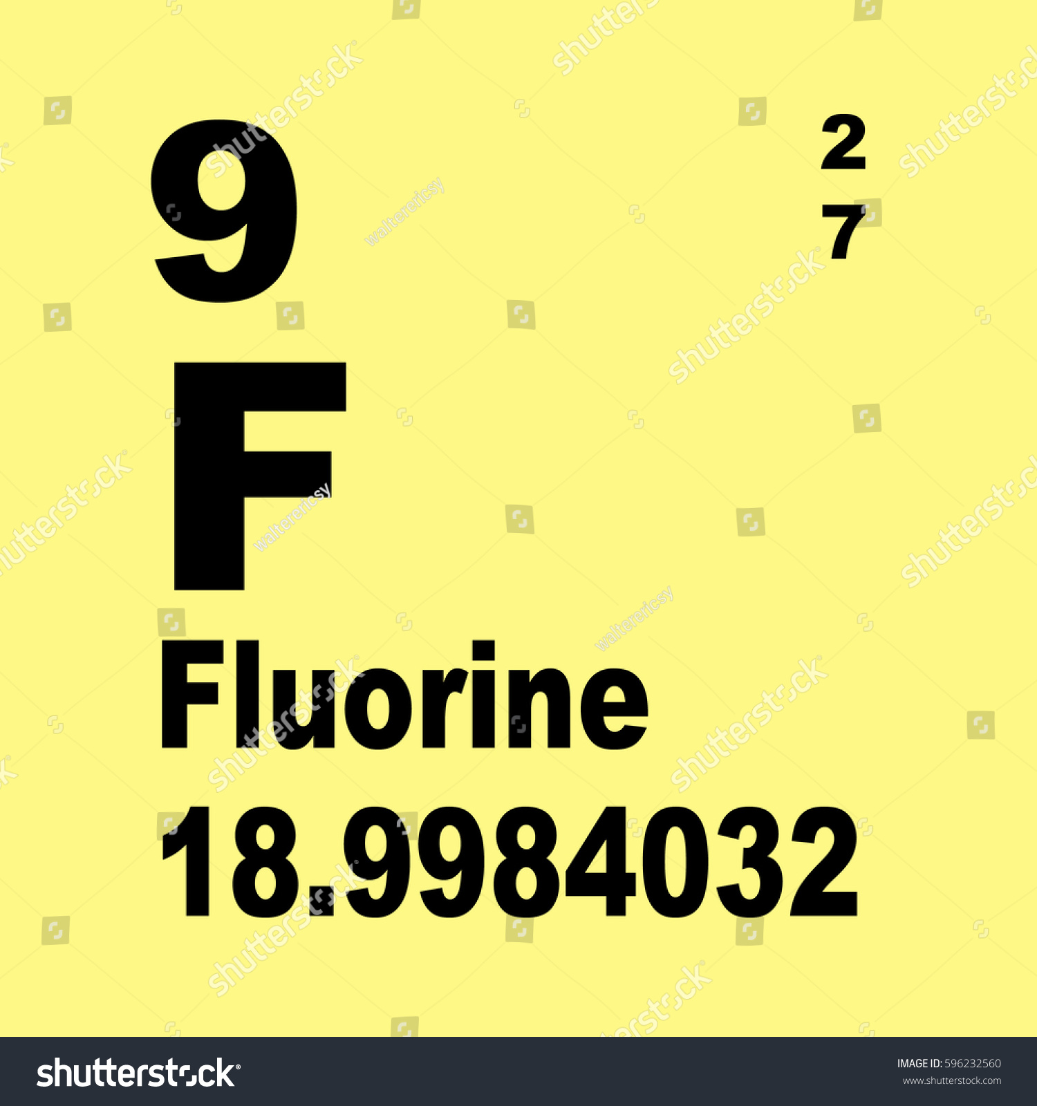 Fluorine periodic table elements stock illustration 596232560 fluorine periodic table of elements gamestrikefo Gallery