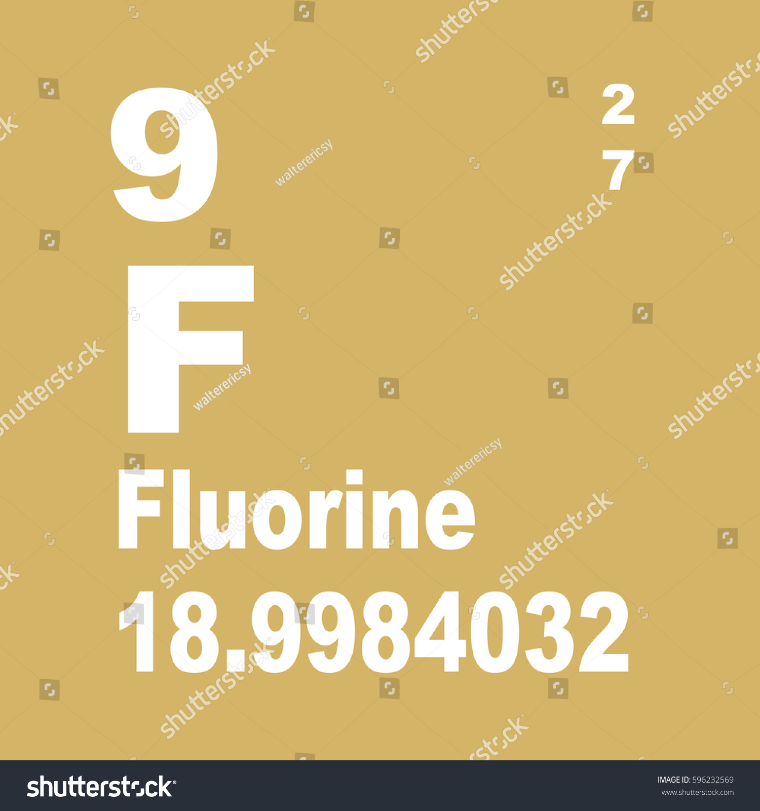 Fluorine periodic table elements stock illustration 596232569 fluorine periodic table of elements gamestrikefo Choice Image